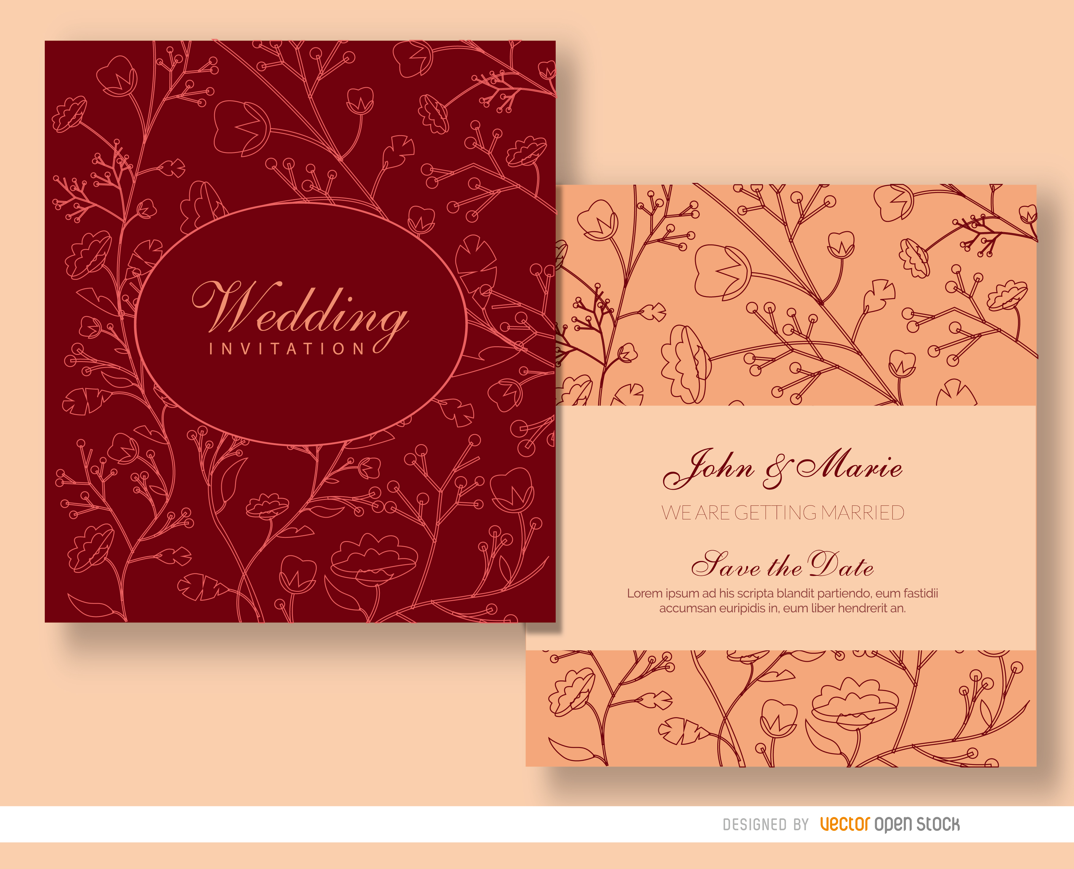 Wedding Invitation Text Background Material, Invitation Card ...