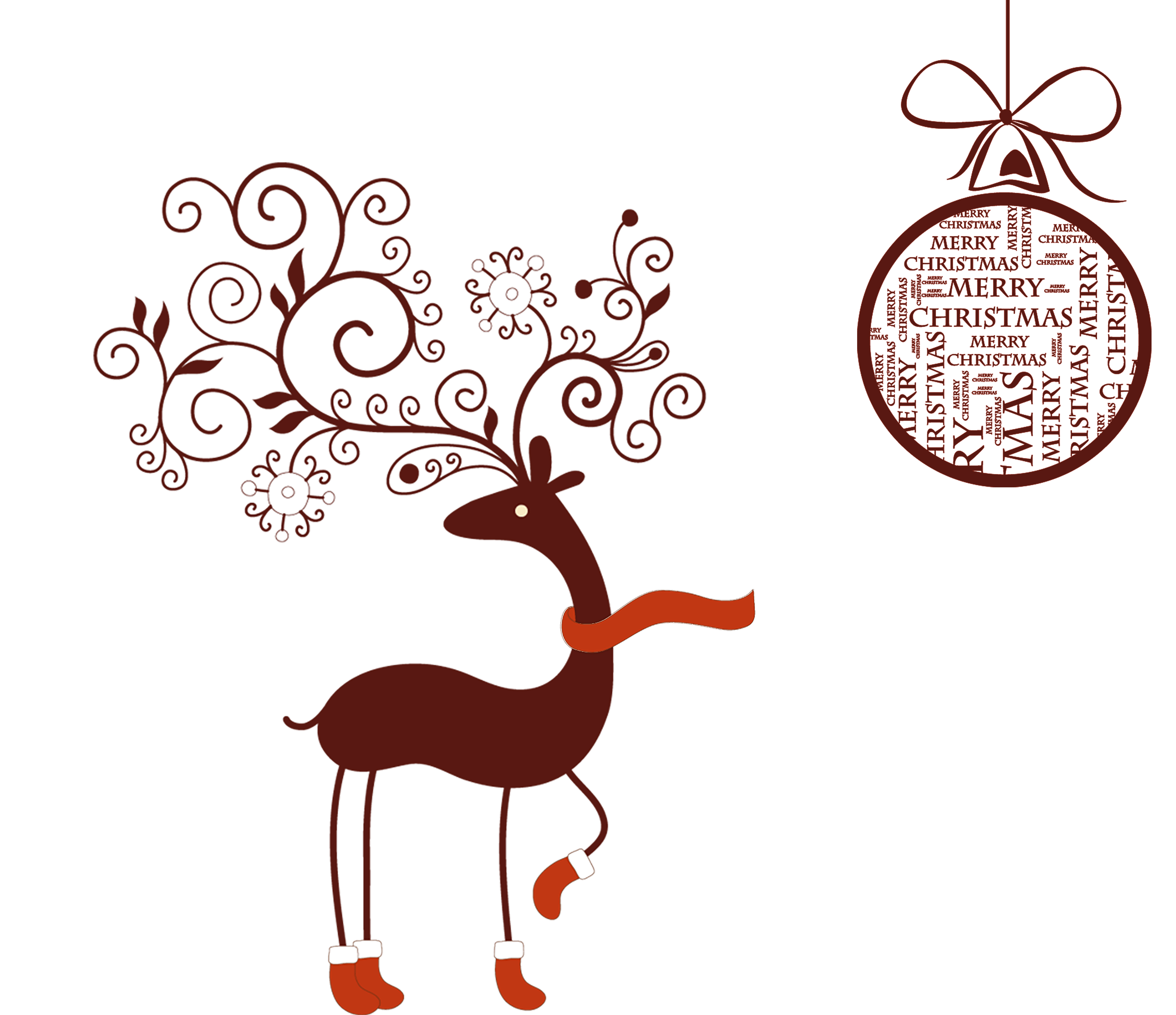 Christmas Deer Background Material, Christmas, Poster, Shopping ...