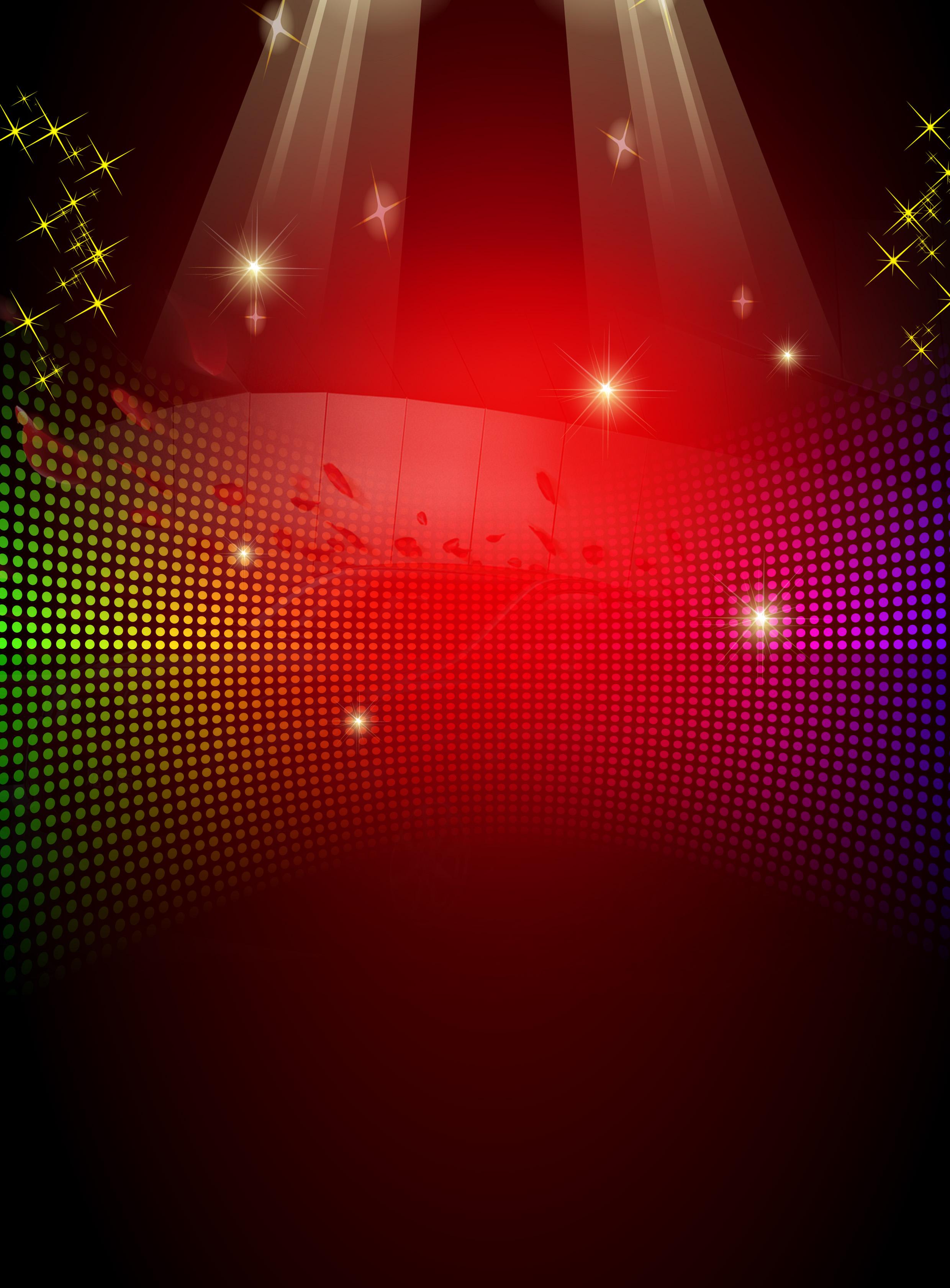material de fundo de festa vermelho chamativo cartaz vermelho a luz brilhante imagem de plano de