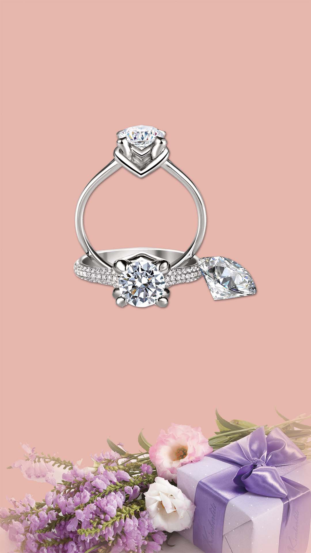 Pink Fantasy Background Material Ring Gift H5, Pink, Dream, Ring ...