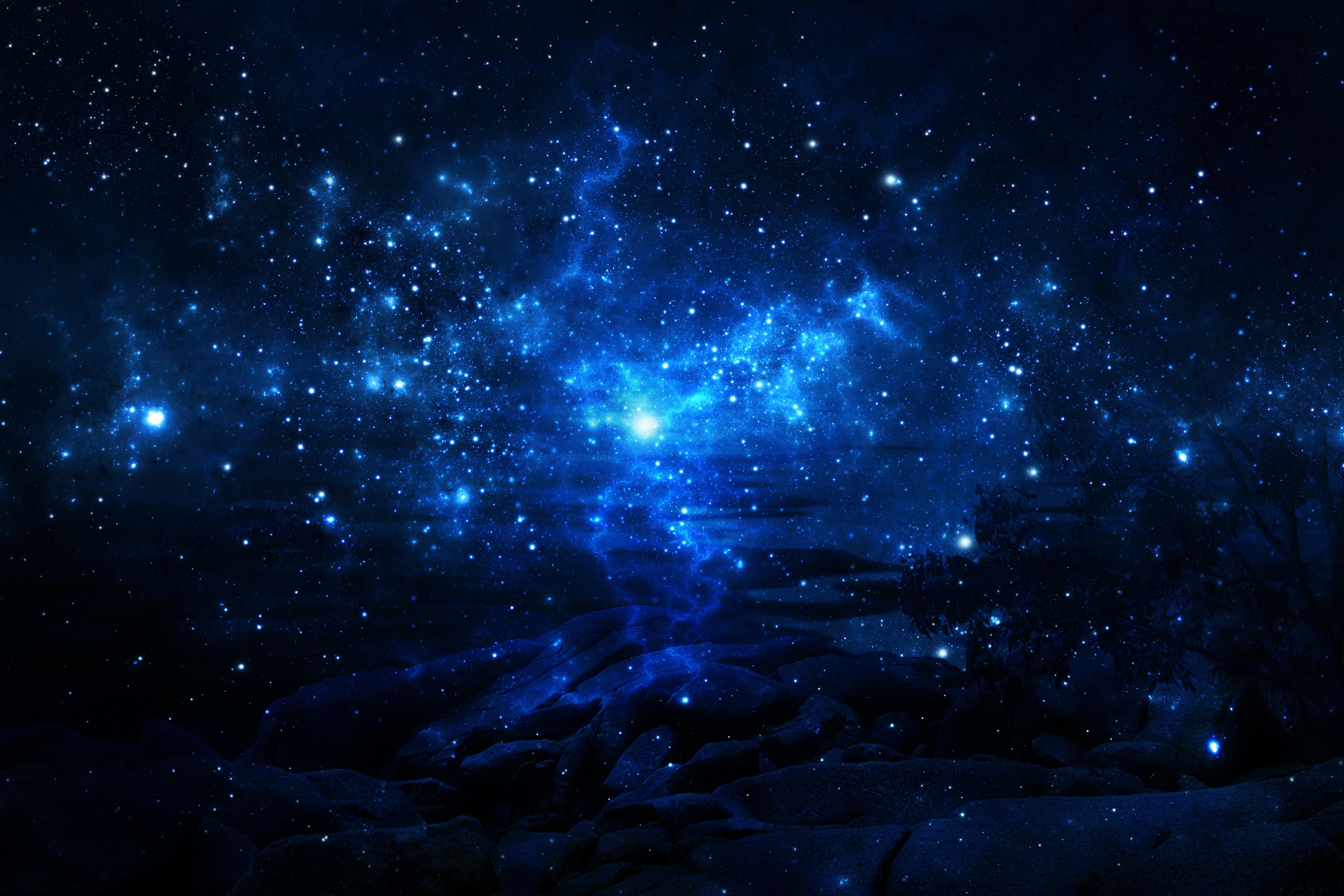 sullo sfondo di un cielo stellato foto di scaricare le