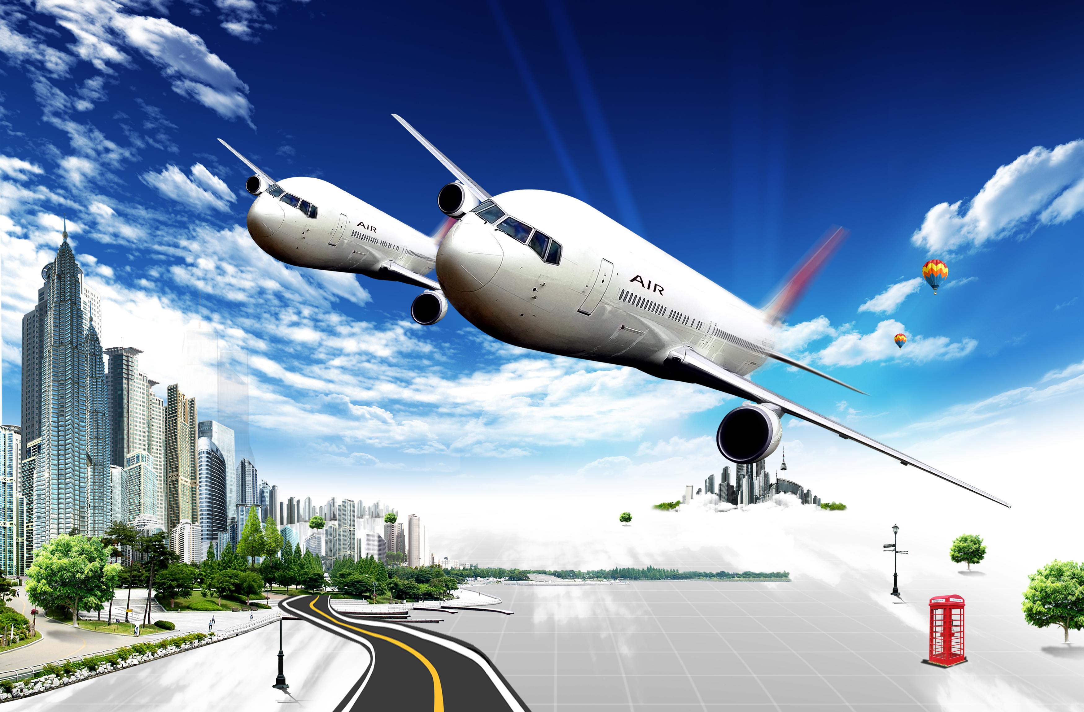 l aviation moderne de la science et de la technologie des affiches de la mati u00e8re de fond