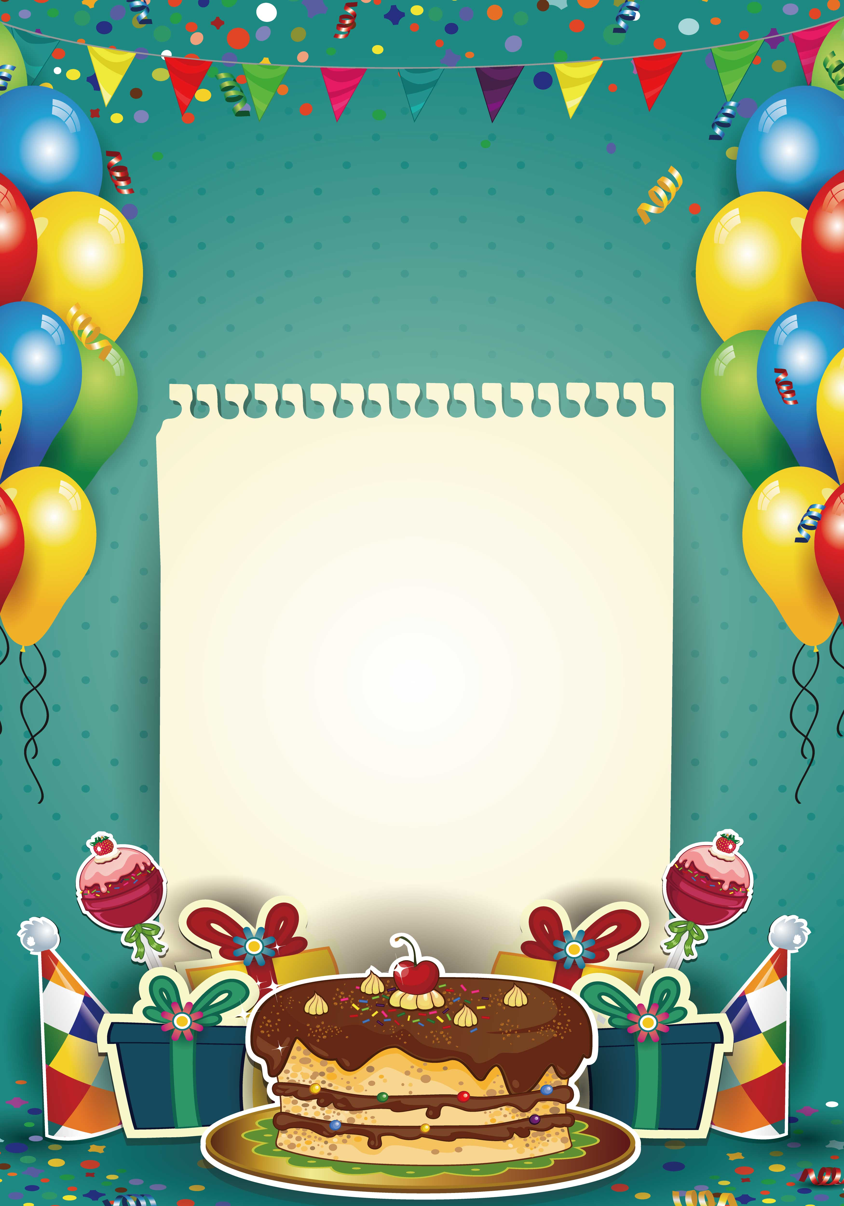 mod u00e8le d arri u00e8re plan anniversaire anniversaire de d u00e9coration la feuille de papier le ballonnet
