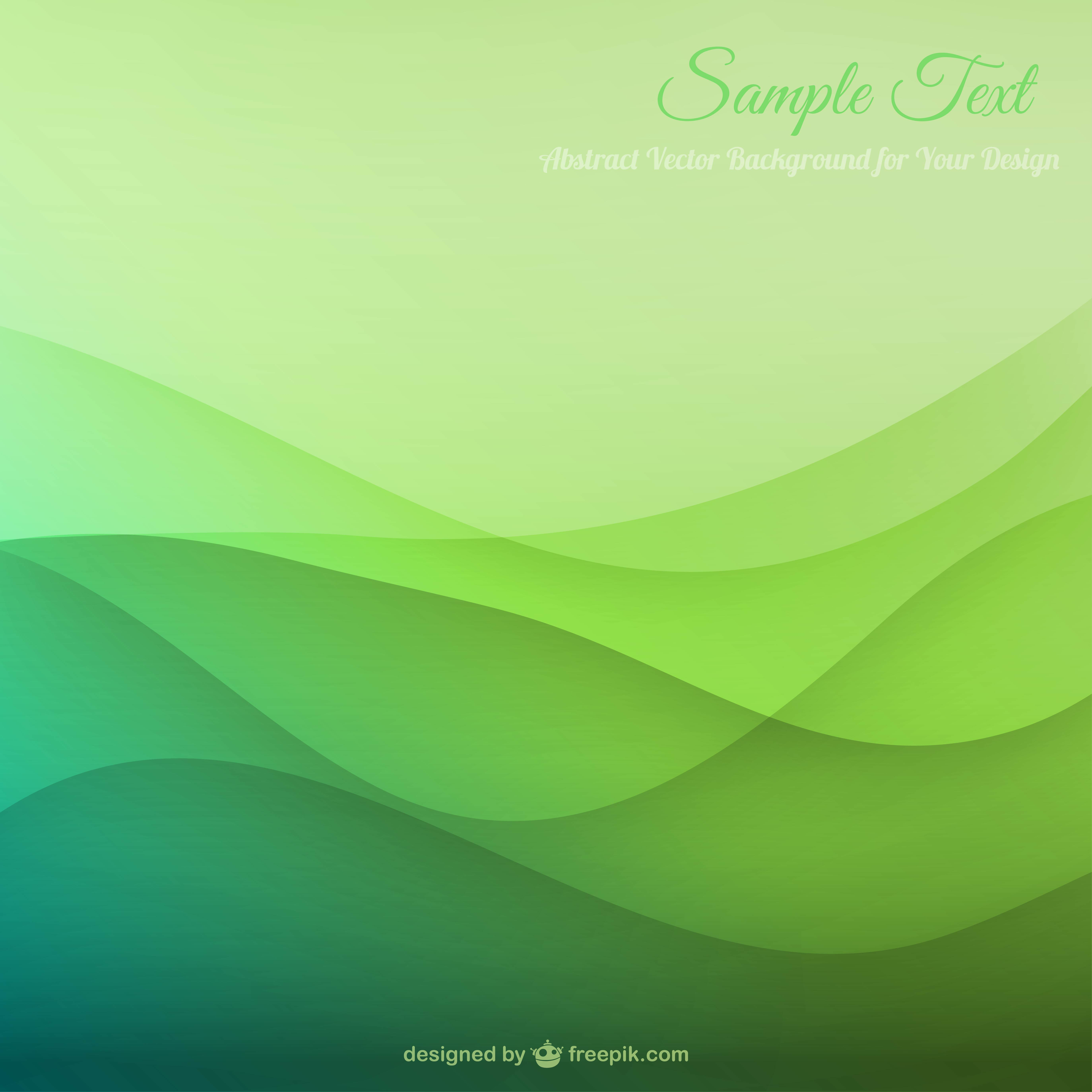 Green Wavy Abstract Background Material, Wallpaper, Wave