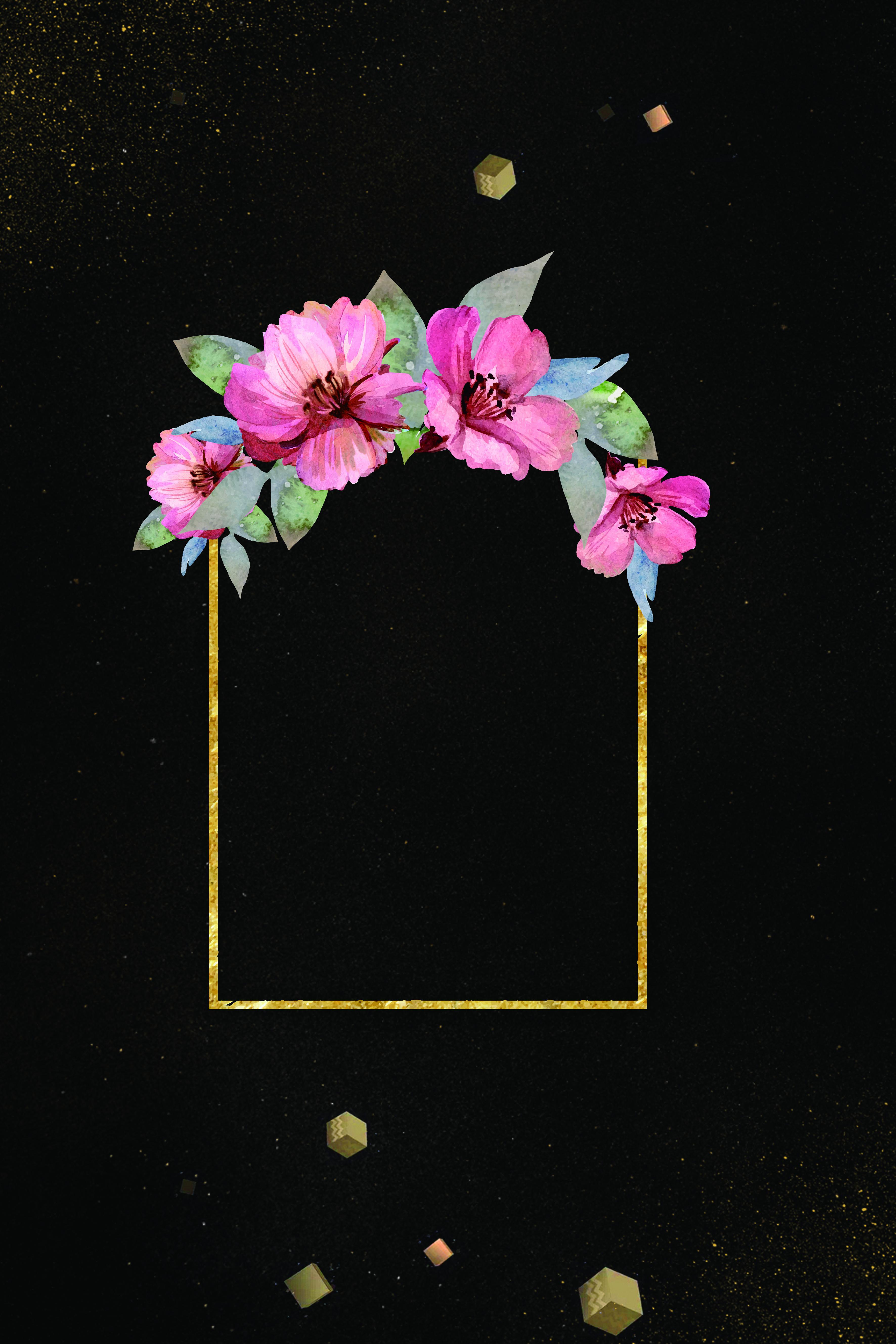 l argent de cadre noir fleur noir les fleurs cadre image