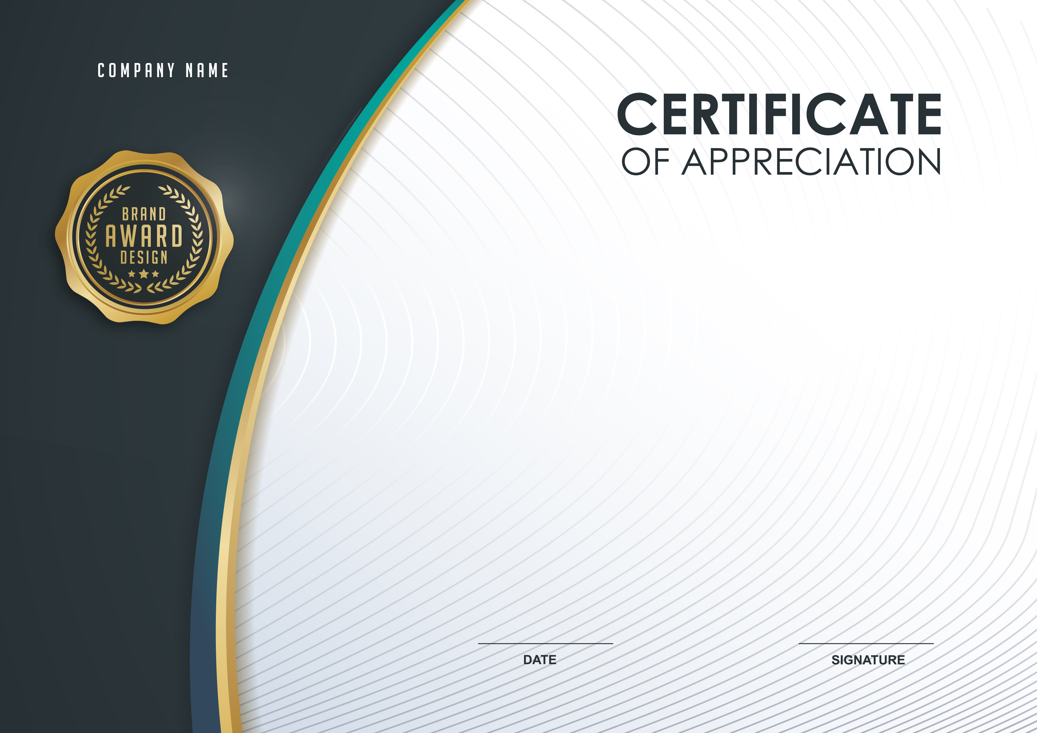 Simple Business Brand Design Background Certificate ...