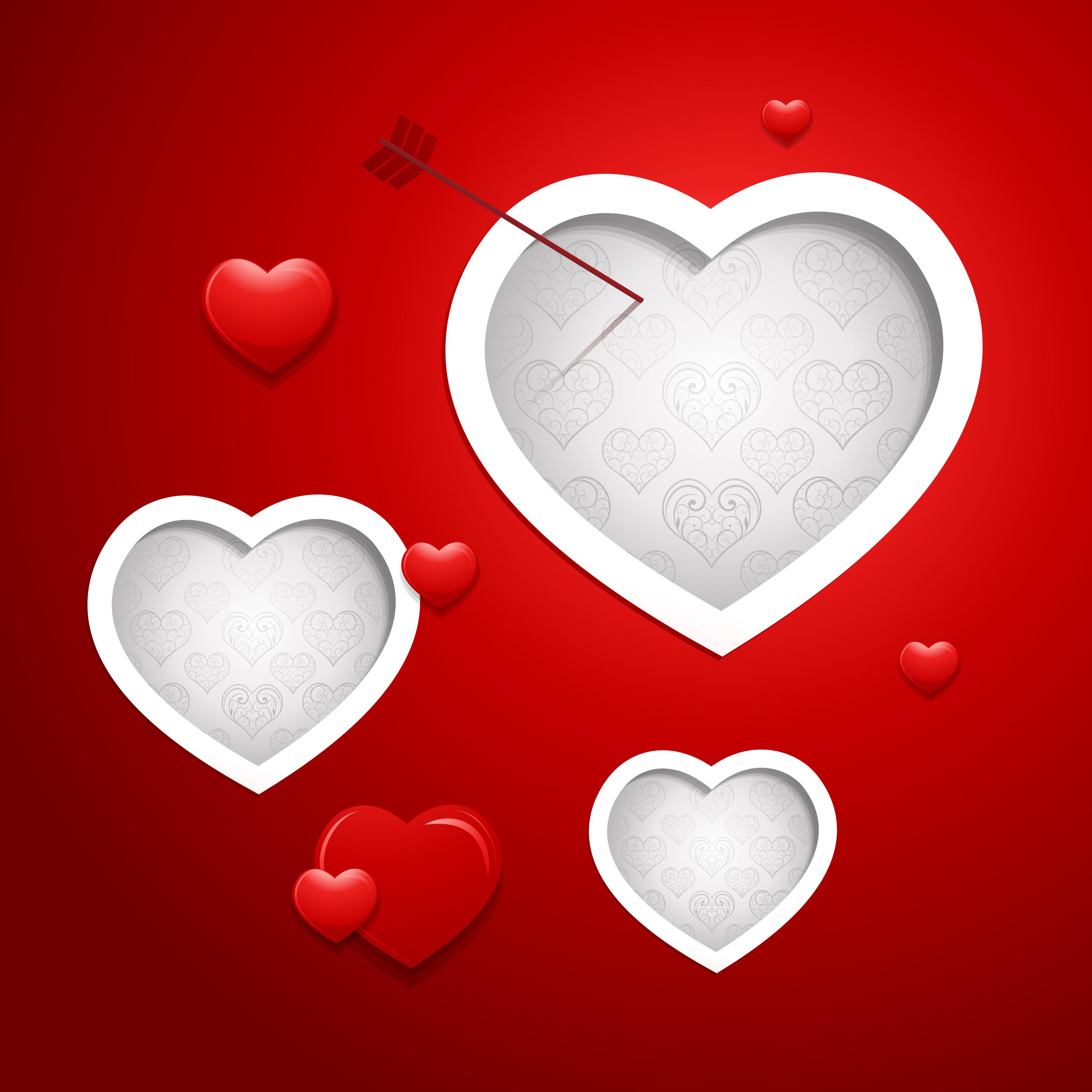 ein romantisches herz rot im hintergrund romantisch. Black Bedroom Furniture Sets. Home Design Ideas