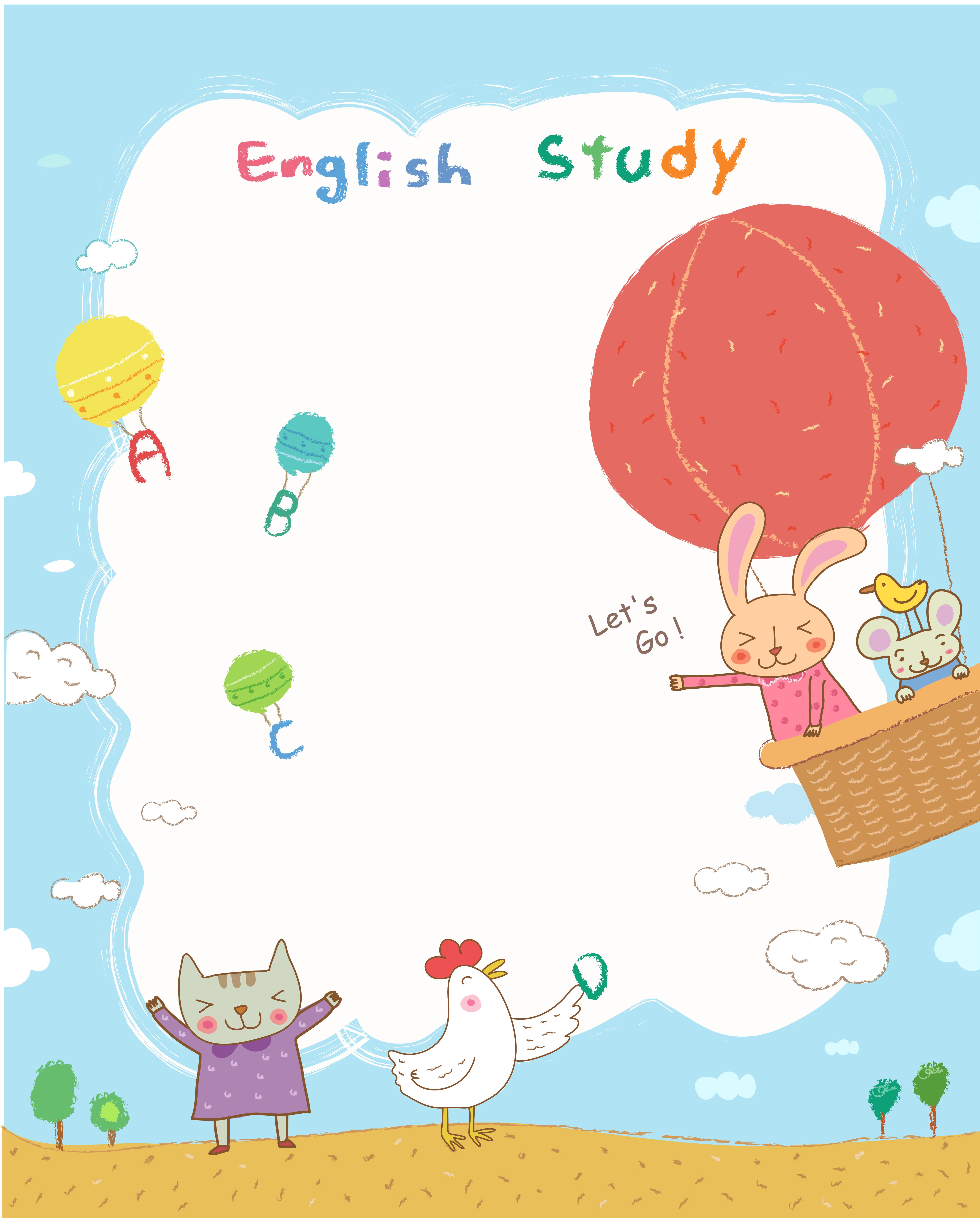 des affiches de la classe d anglais l apprentissage de l anglais le ballonnet lapin image de