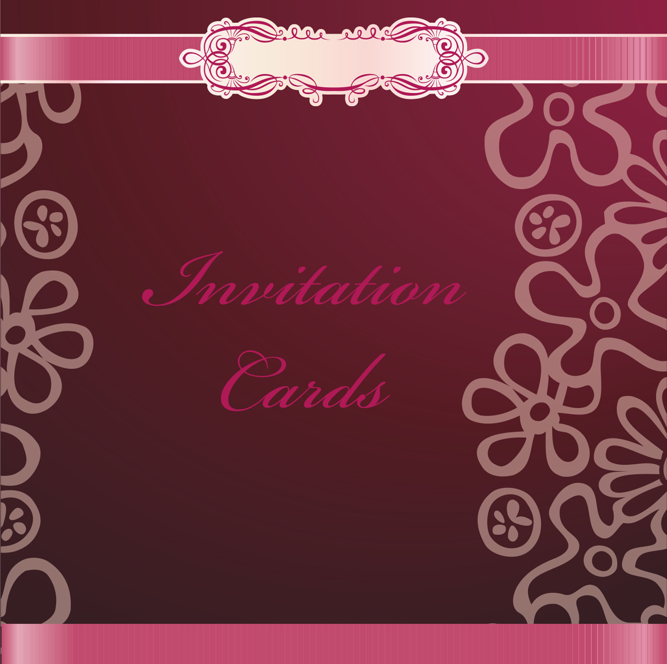 Continental Red Simple English Wordart Wedding Invitation Background ...