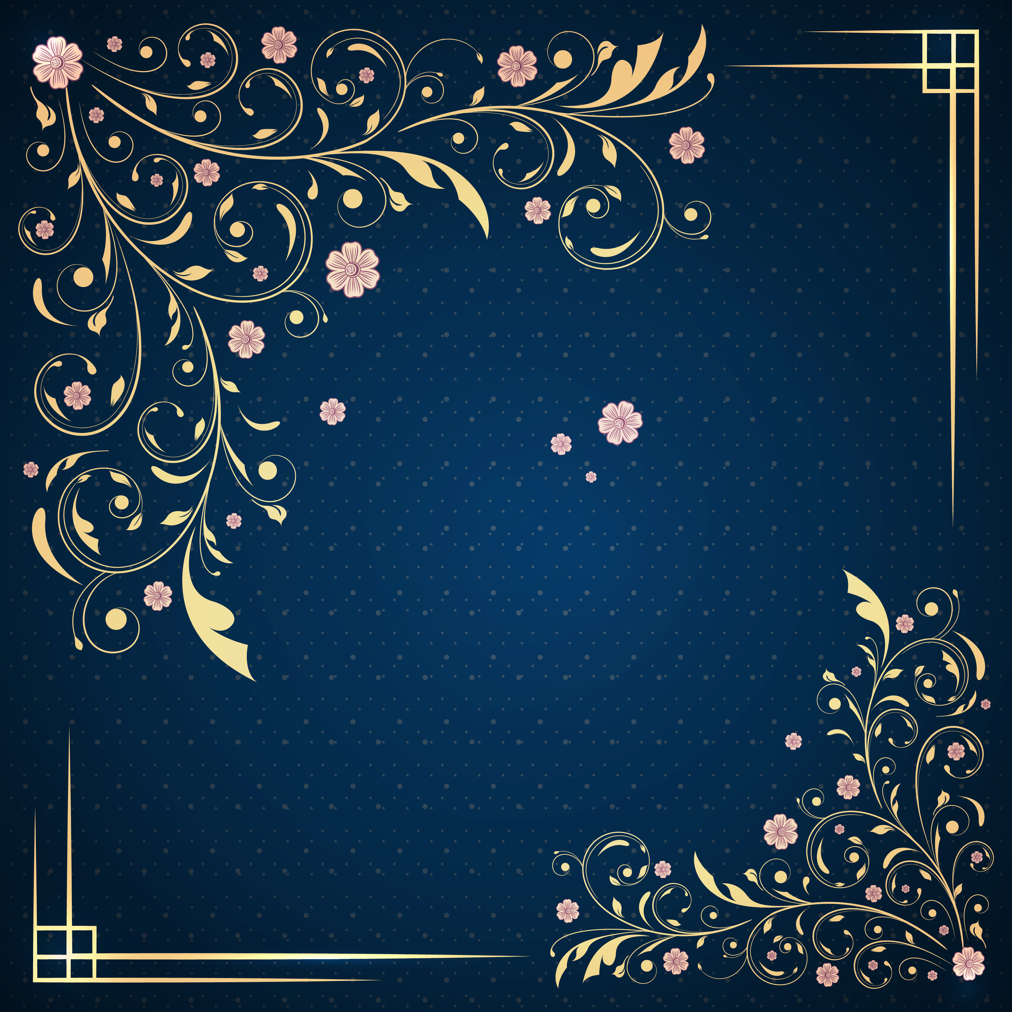 Wedding Invitation Backgrounds: Annual Wedding Invitations Blue Pattern Background