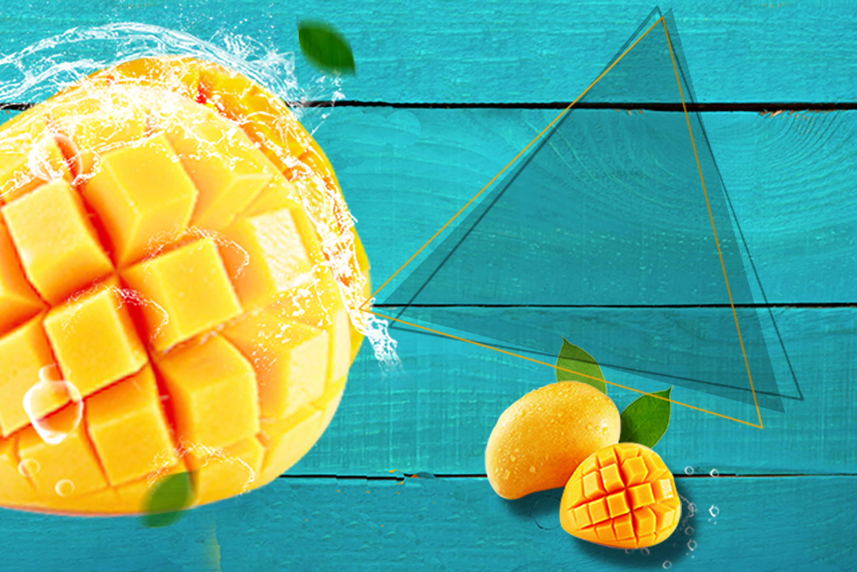 mango fruit promotional posters background material  fruit