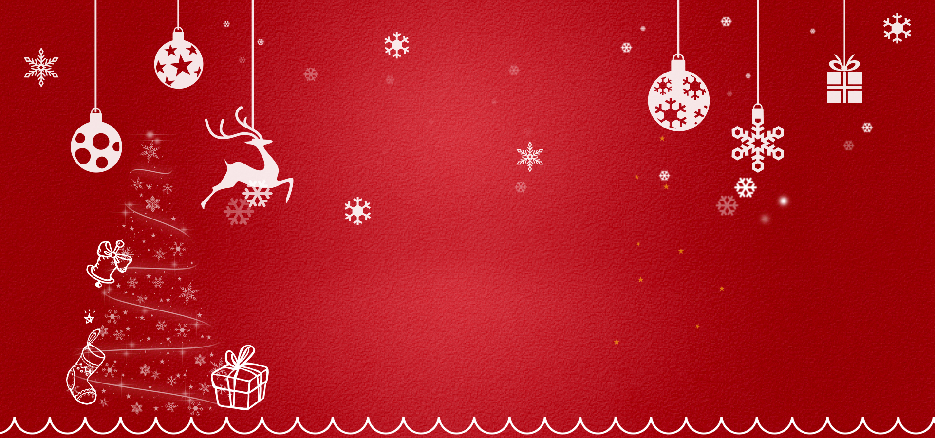 christmas festive banner red background  christmas