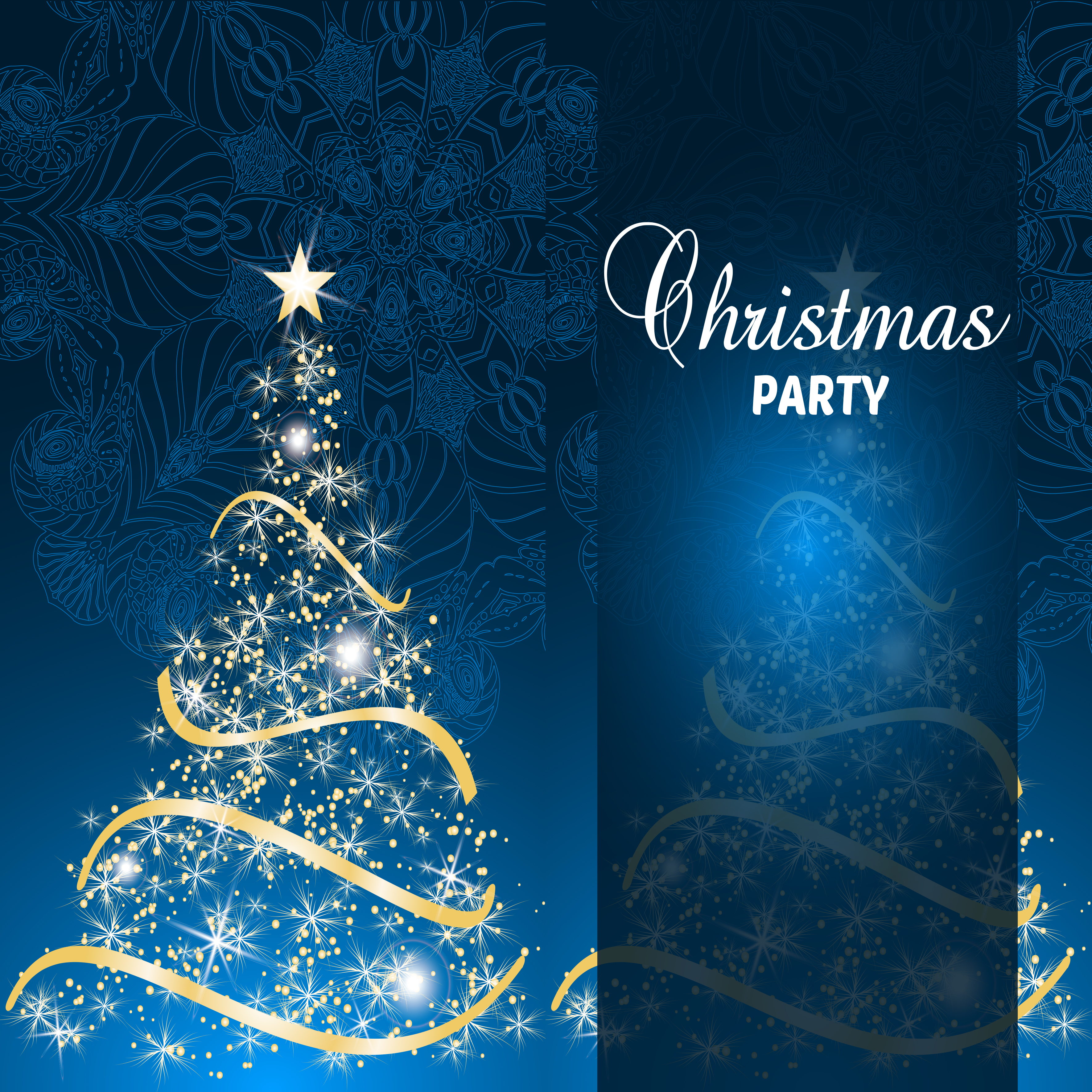 Dreams Romantic Christmas Party Blue Glare Background