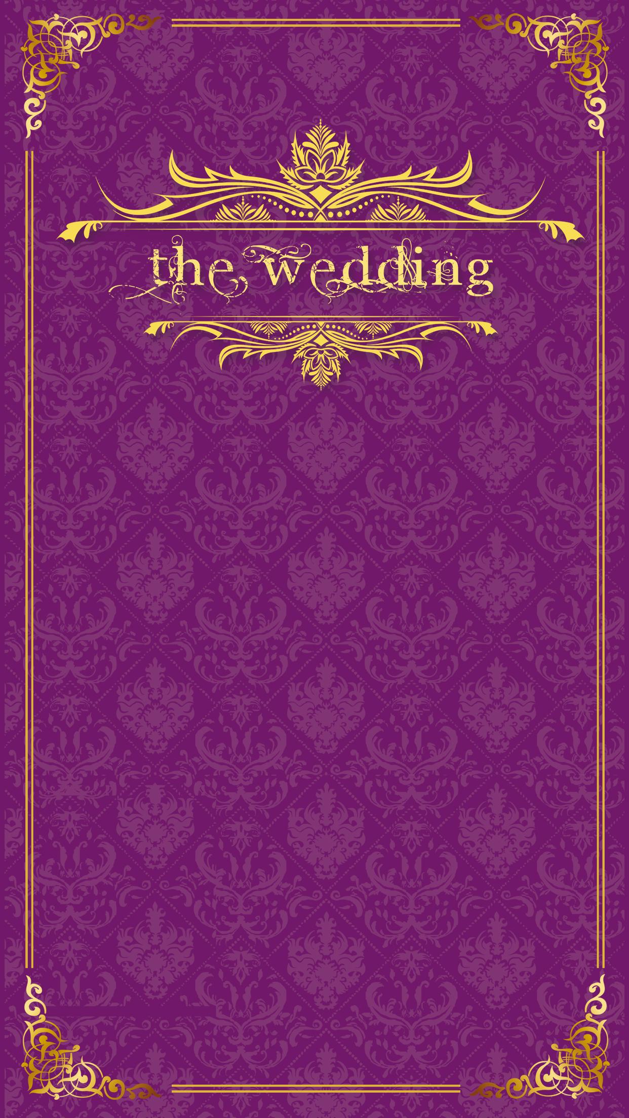 Wedding Invitation Purple Background Material Pattern