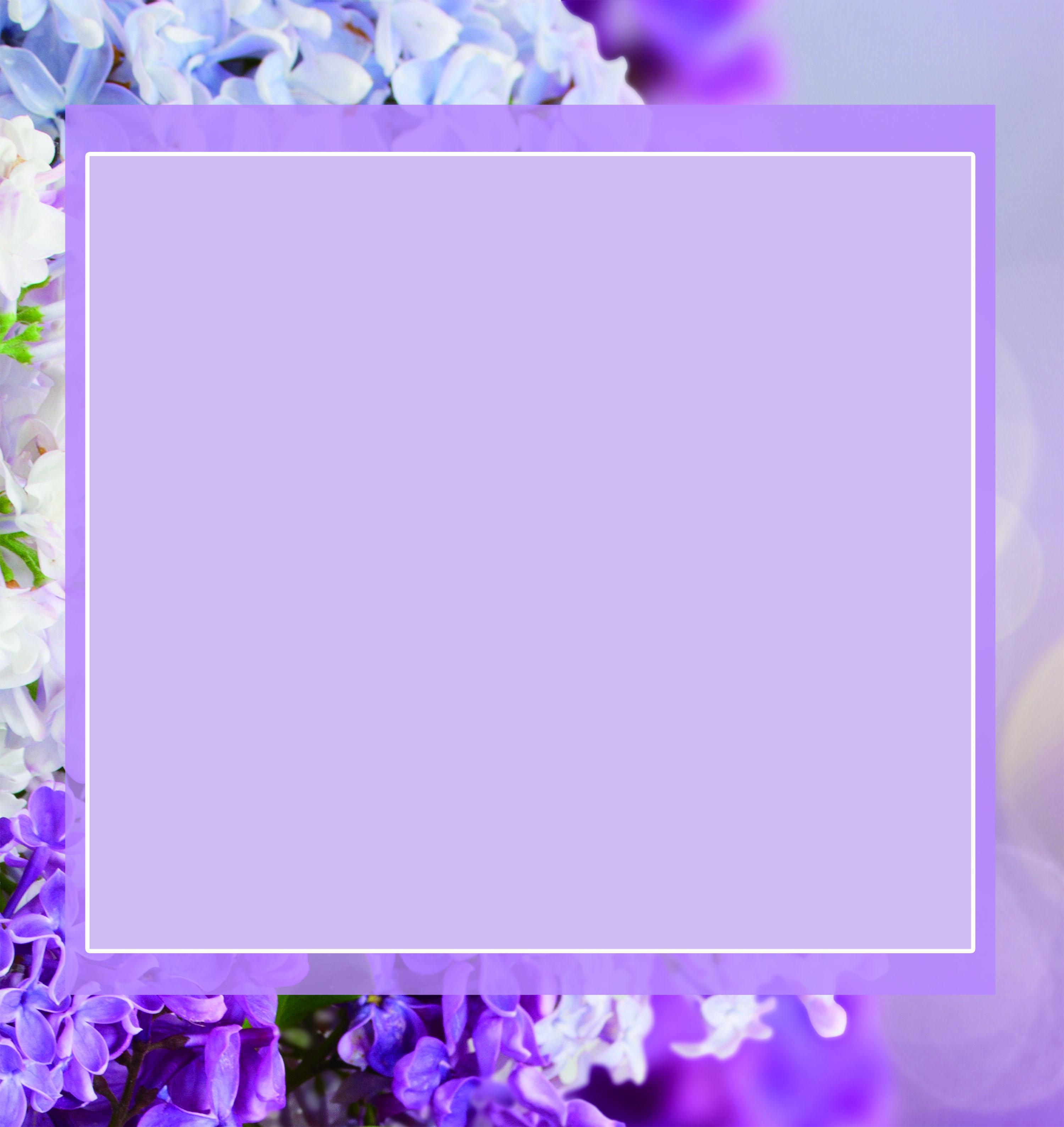 Il sogno di ortensia fiore viola cornice