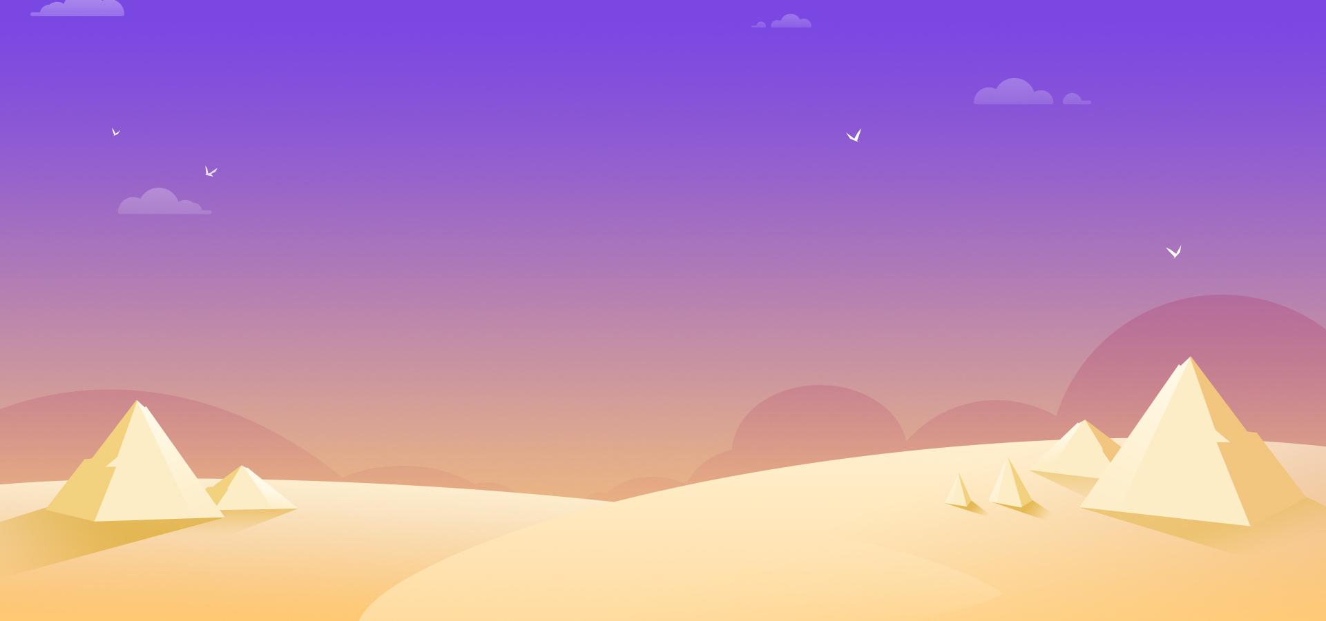 cartoon desert pyramid banner background  cartoon  desert