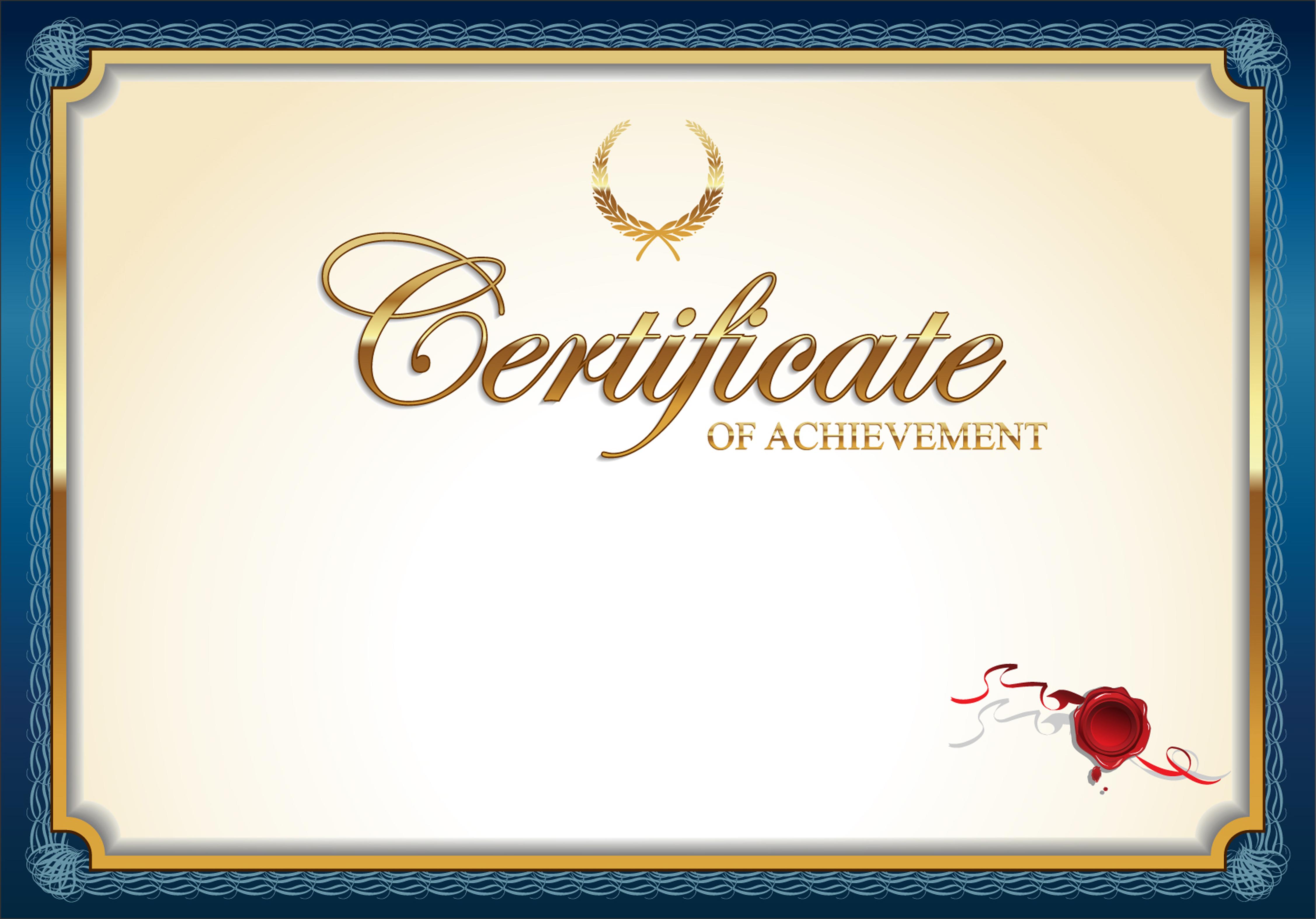 Creative Background Blue Border Certificate, Certificate ...
