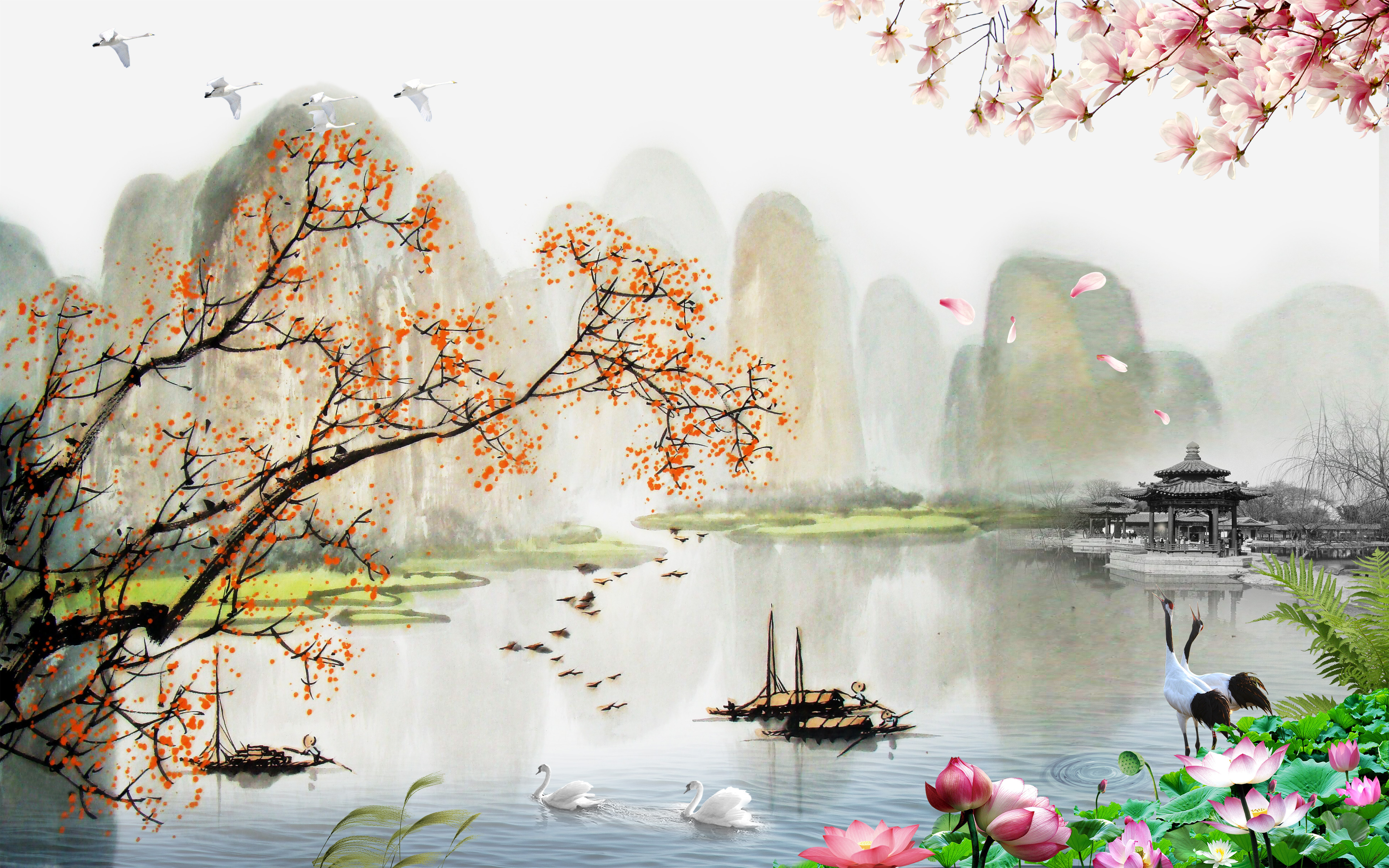 chinese landscape painting style chinese style landscape