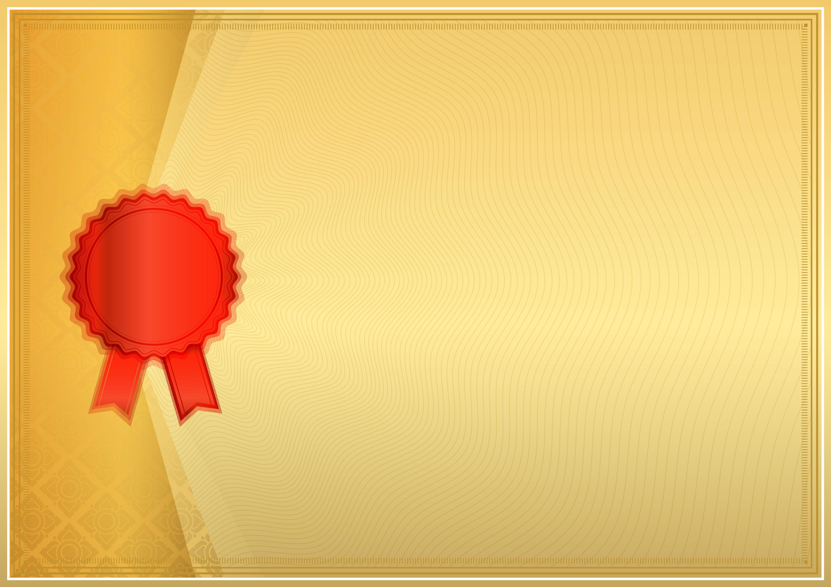 Material de vetor de padrão de Fundo certificado de Ouro ...