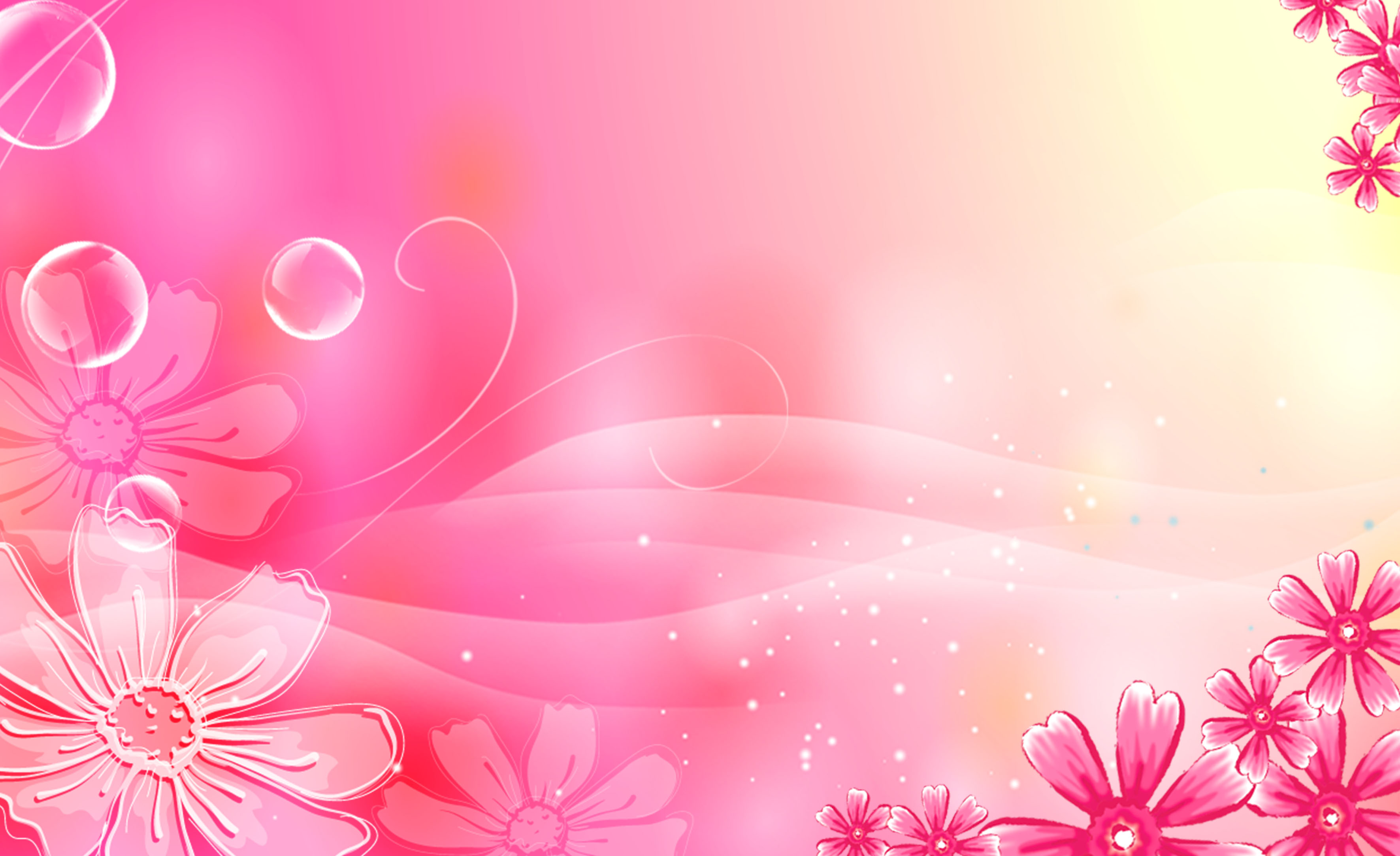 pink gradient background beauty bubble fantasy material