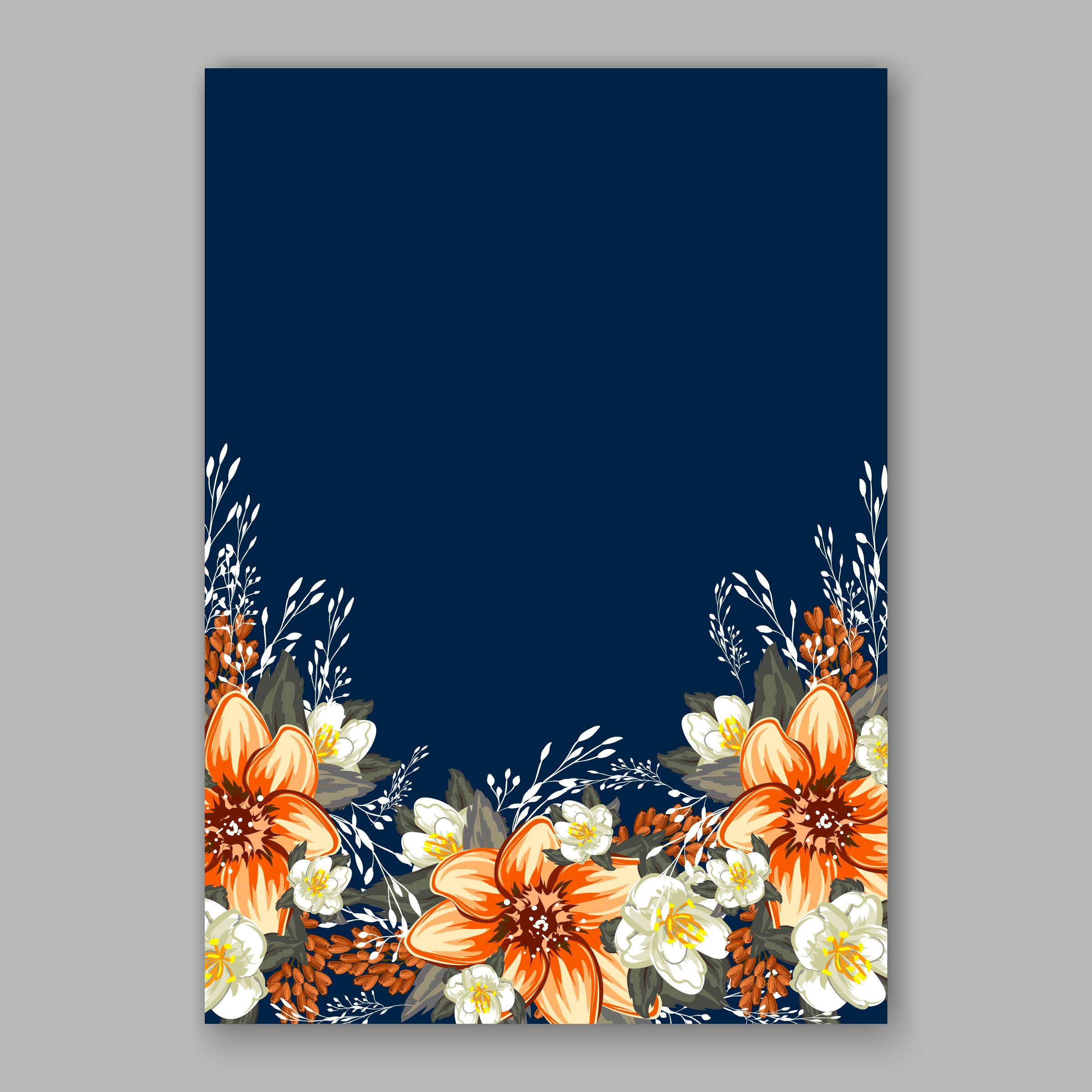 Wedding Flower Background: Handpainted Flowers Wedding Invitations Invitations