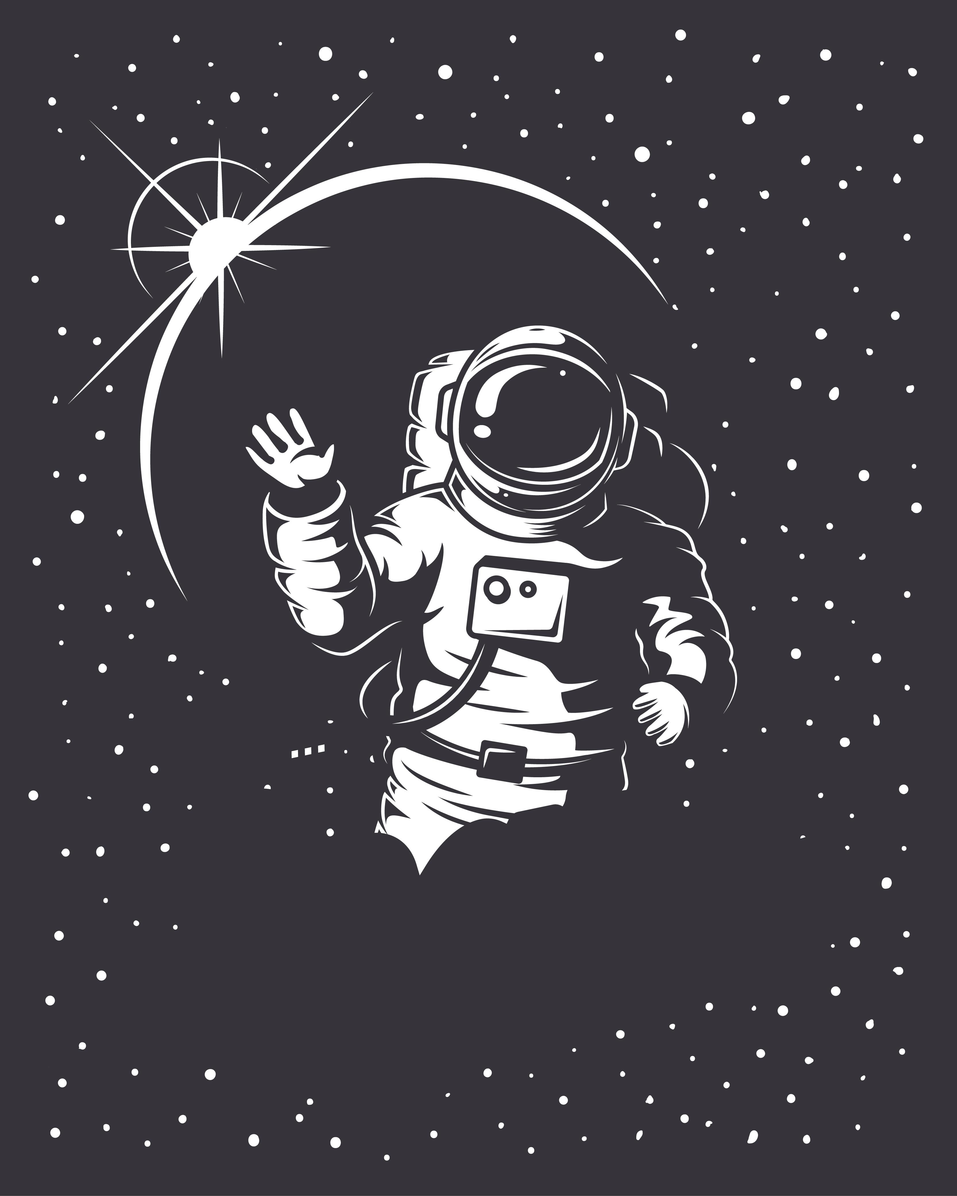 retro astronaut clip art - HD3333×4167