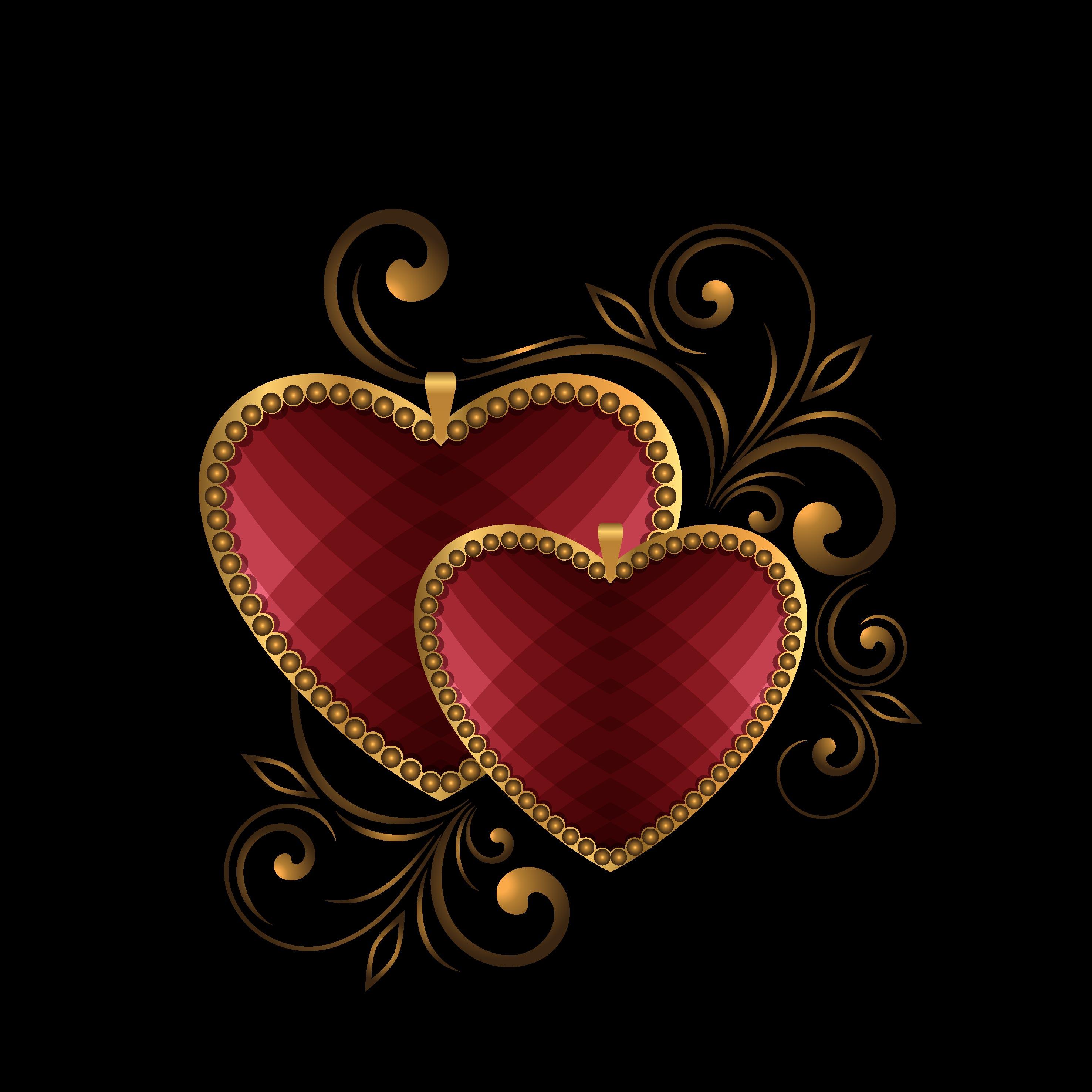 romantique de motif de fond en forme de coeur de phnom