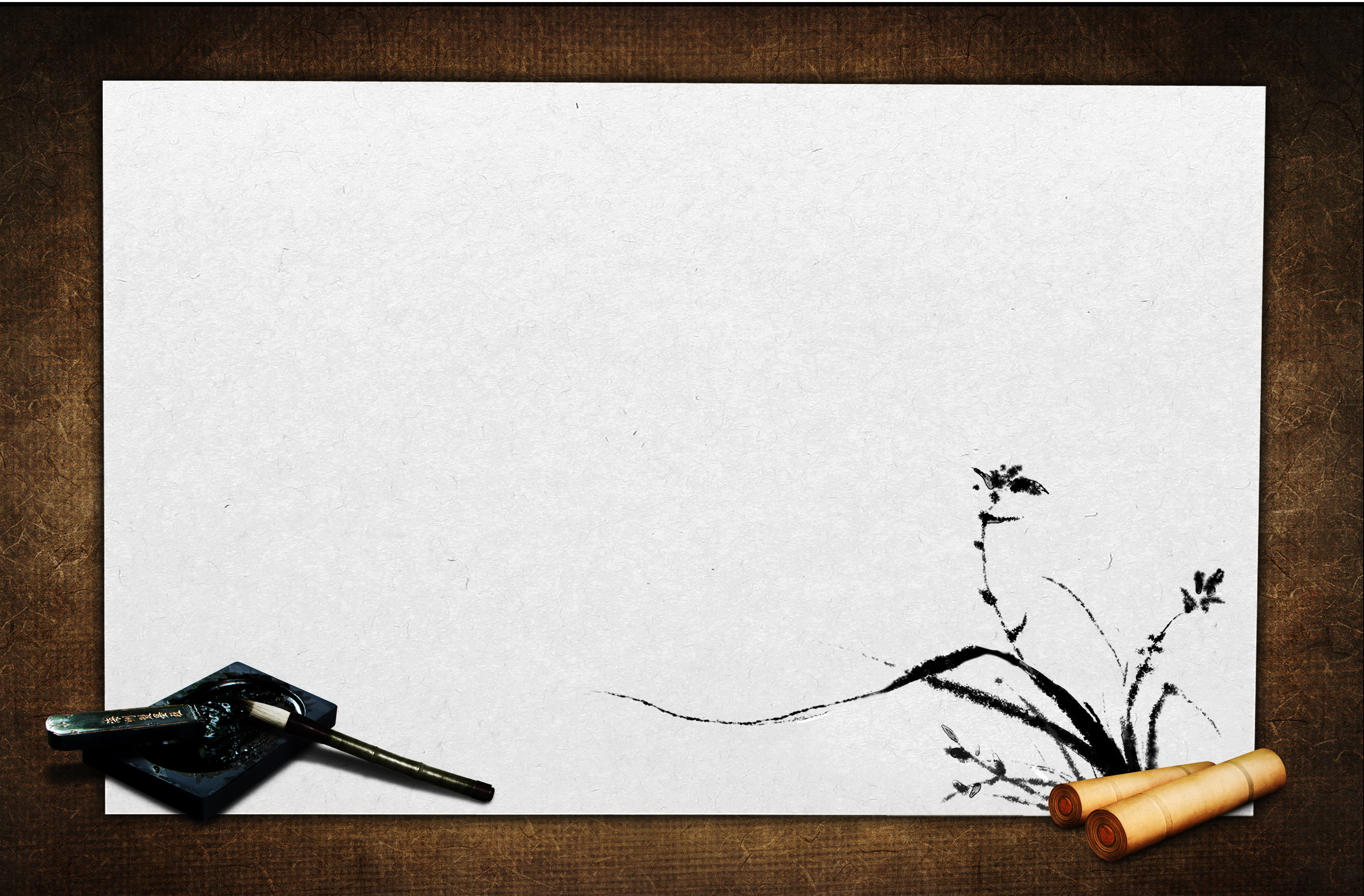 Calligraphy Brush Background Template Calligraphy