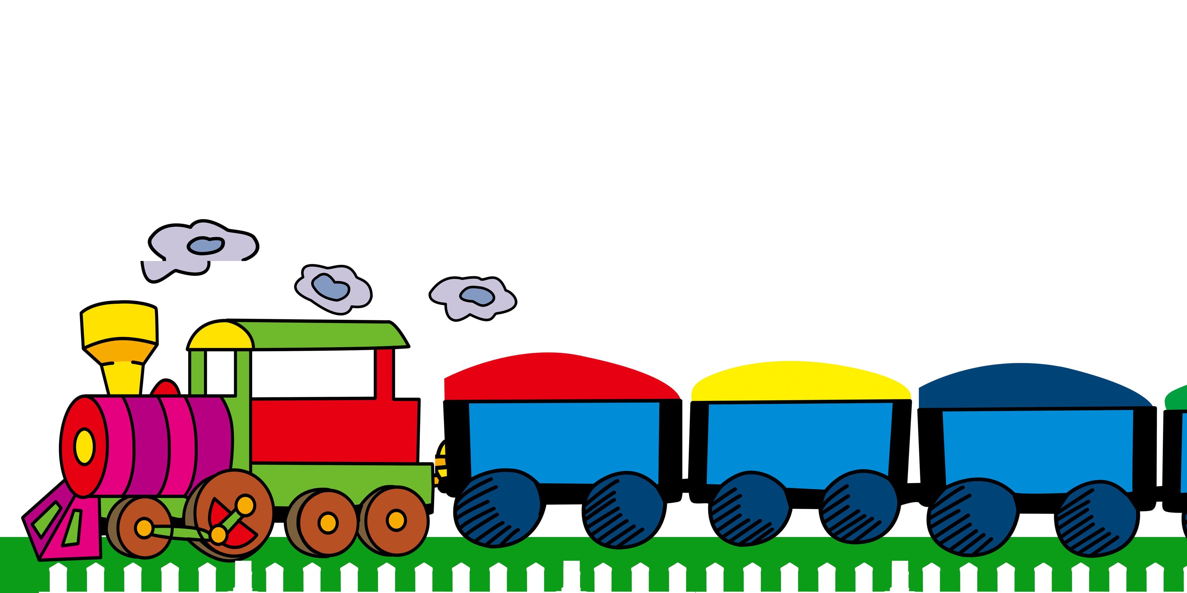 Kereta Api Kartun Latar Belakang Imej Kartun Kereta Api