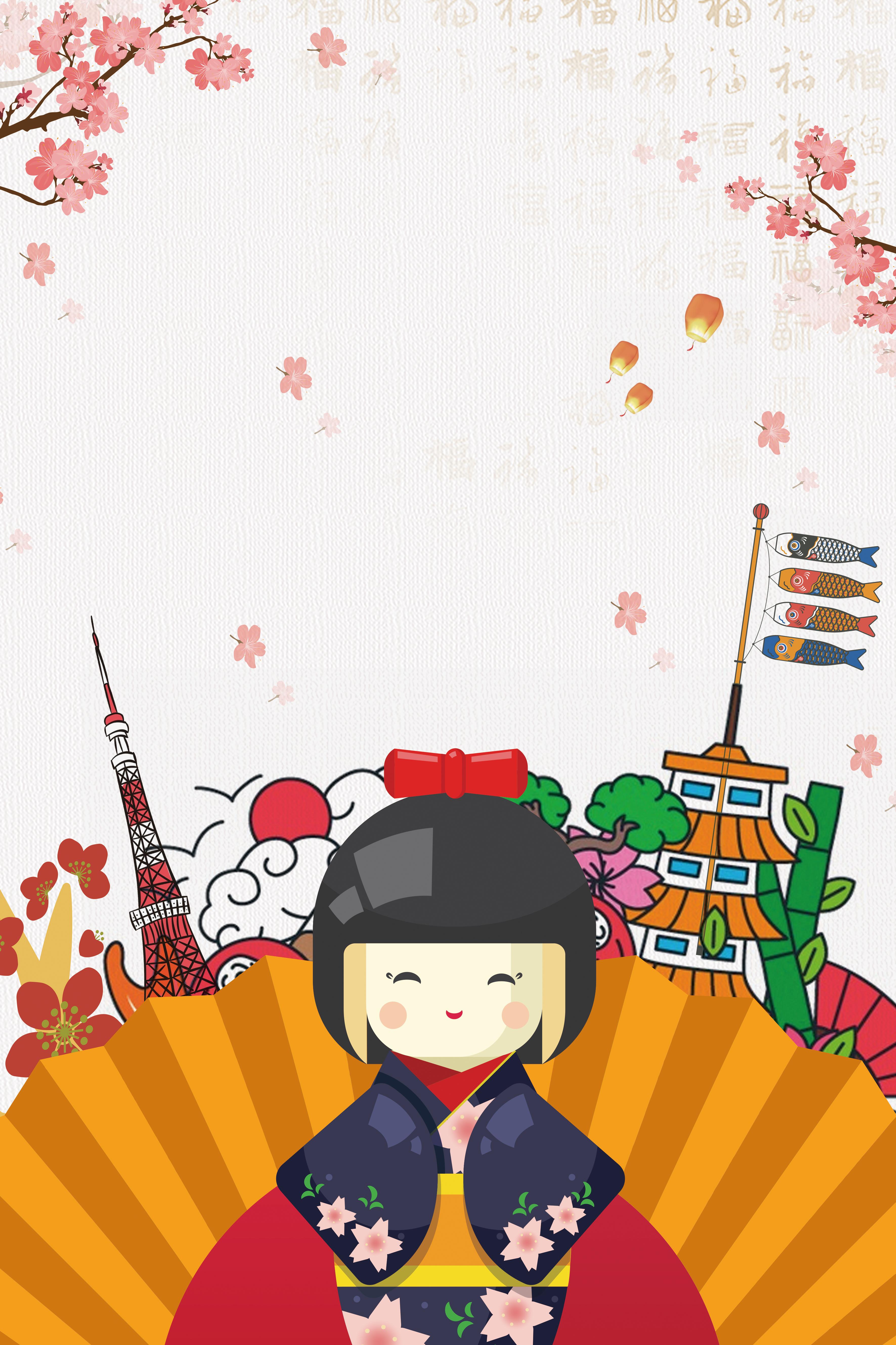 en asie le japon international du tourisme d affiches de la mati u00e8re de fond japonais touristique