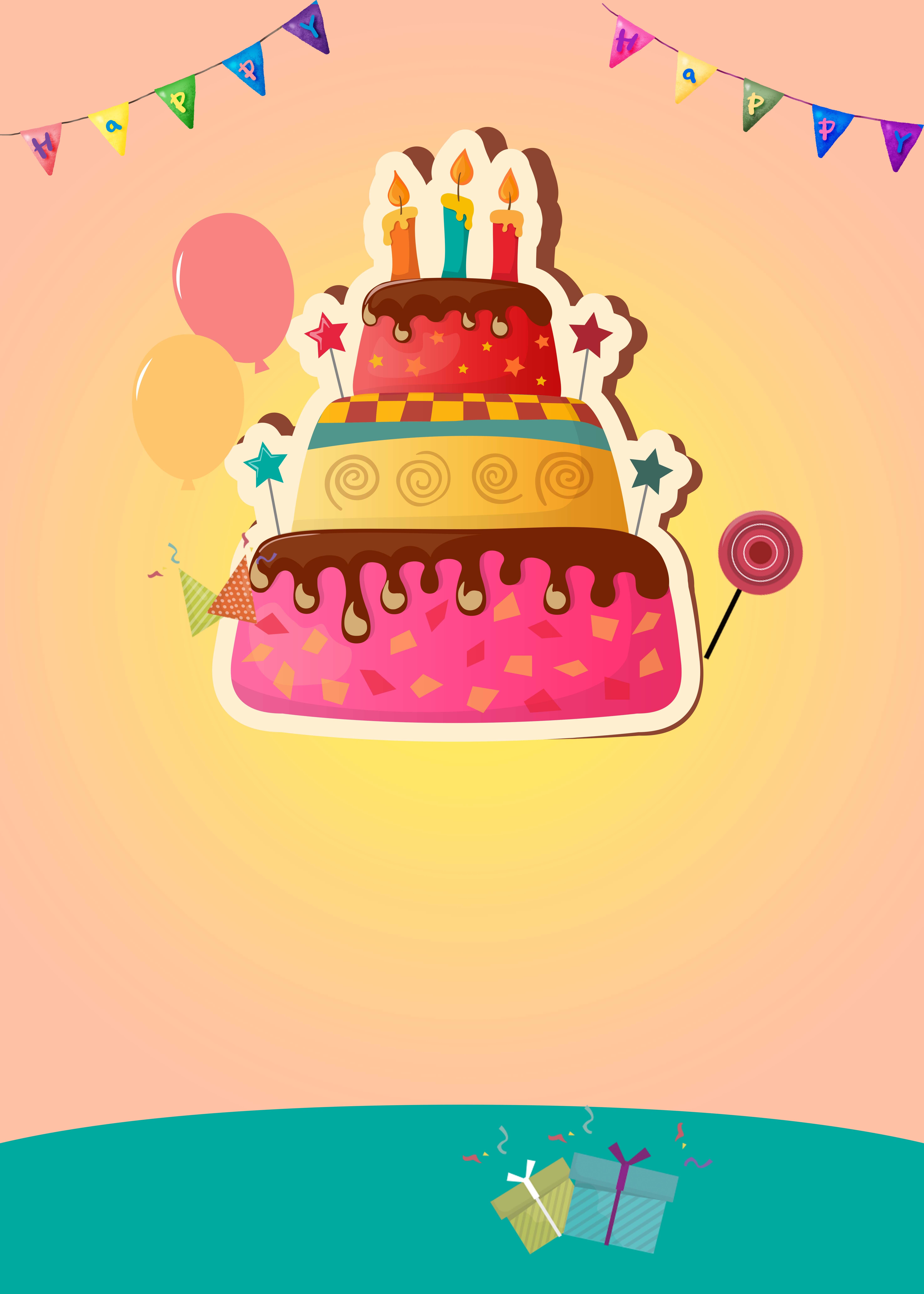 Фон тортика открытка с днем рождения