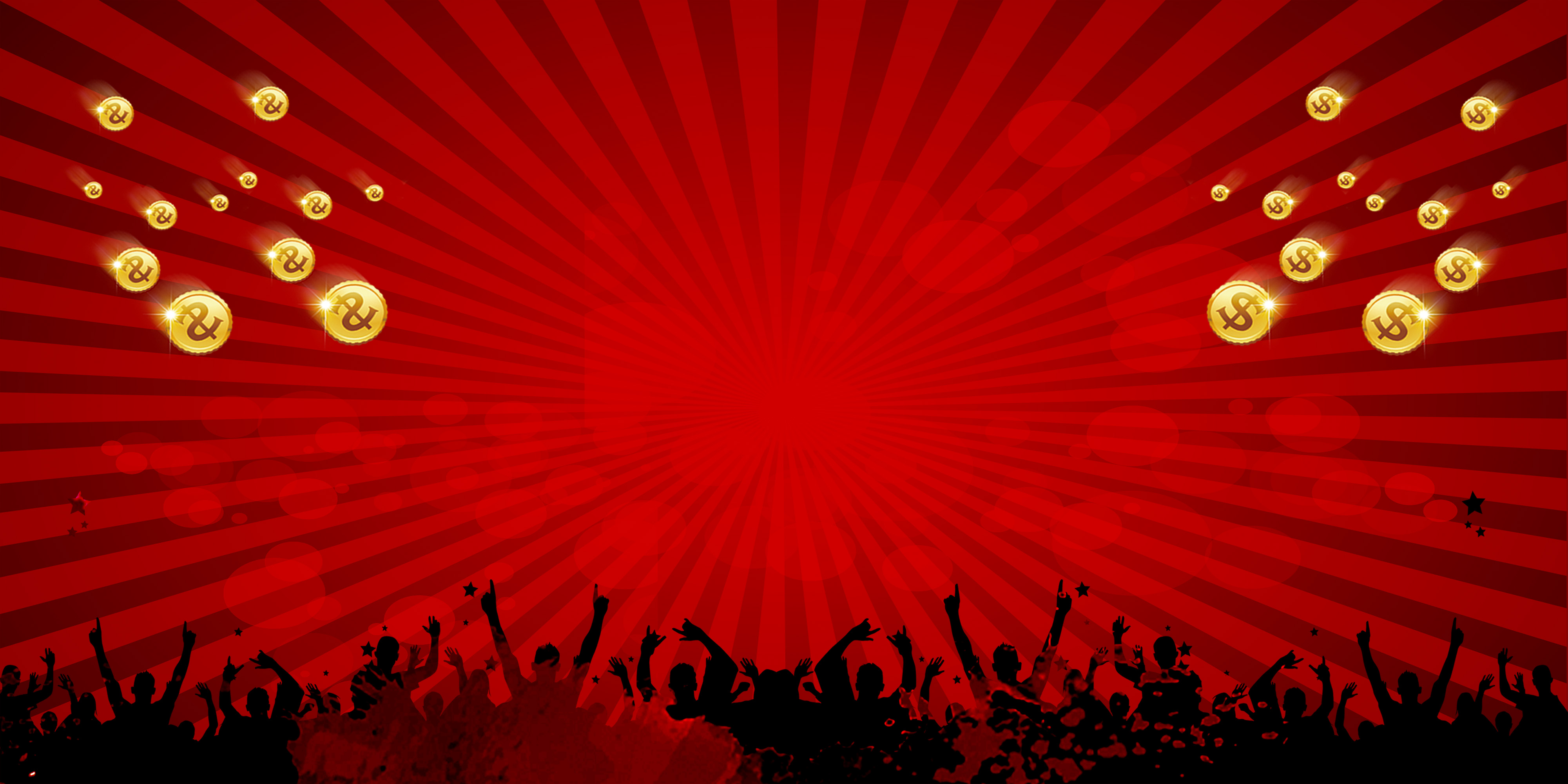red gala concert poster background material  red  carnival