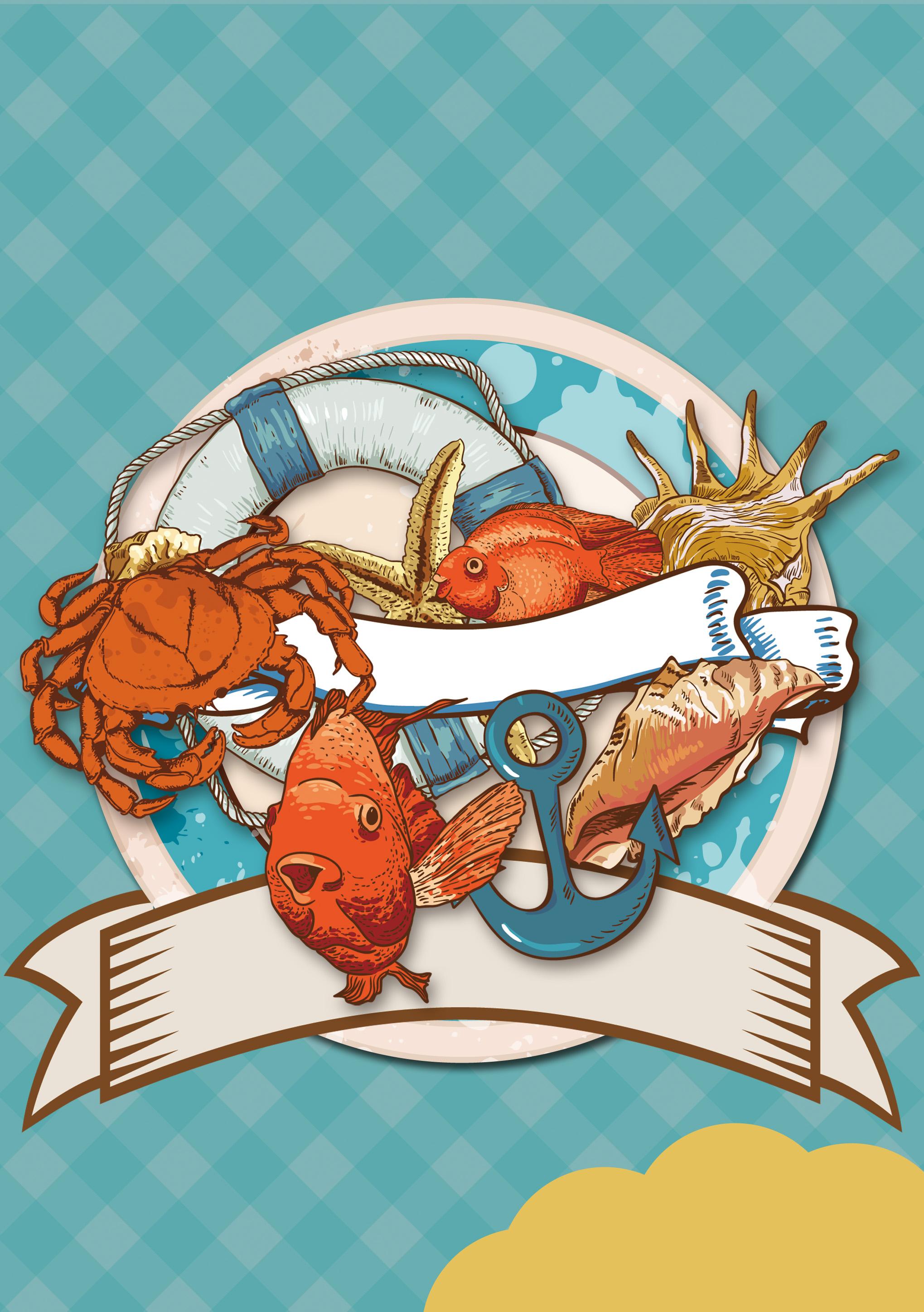 cartoon seafood restaurant actividad publicidad material de antecedentes dibujos animados de