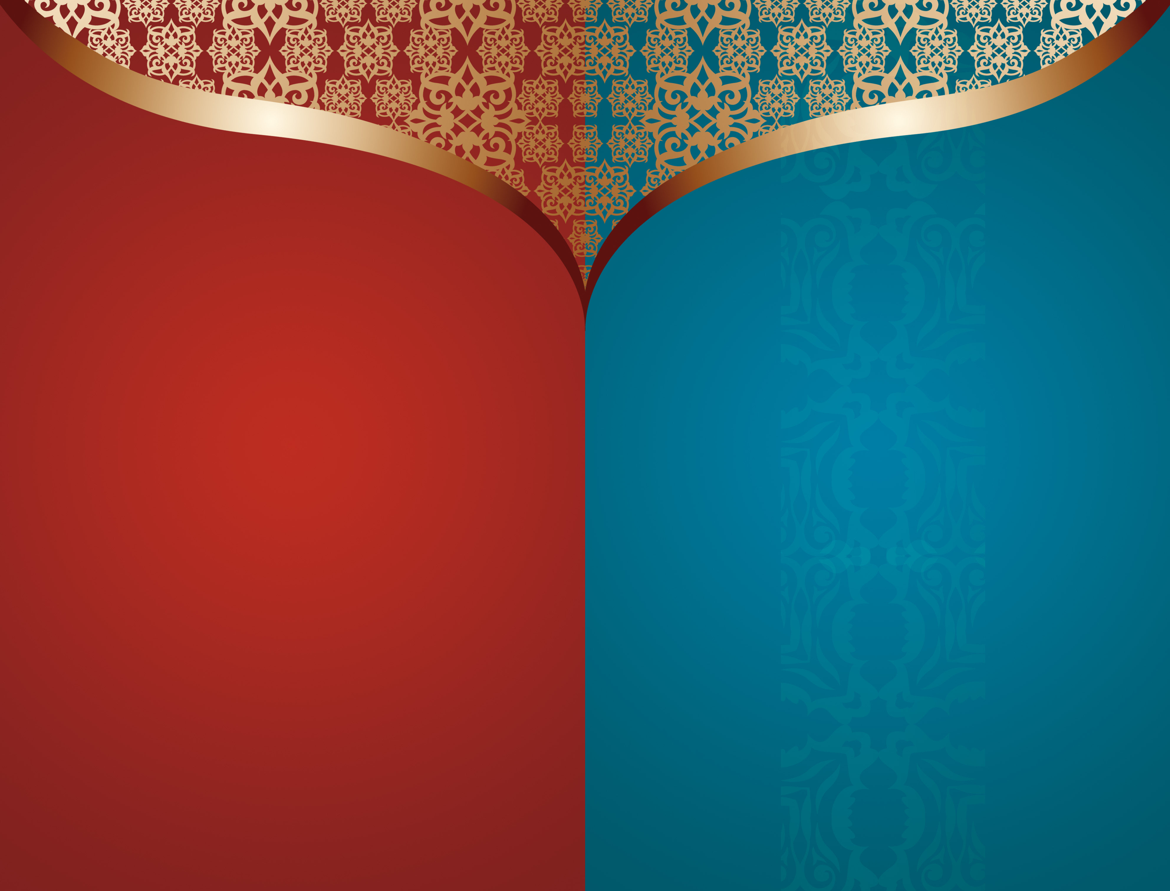 Atmospheric Invitation Blue And Red Background Material, Atmosphere ...