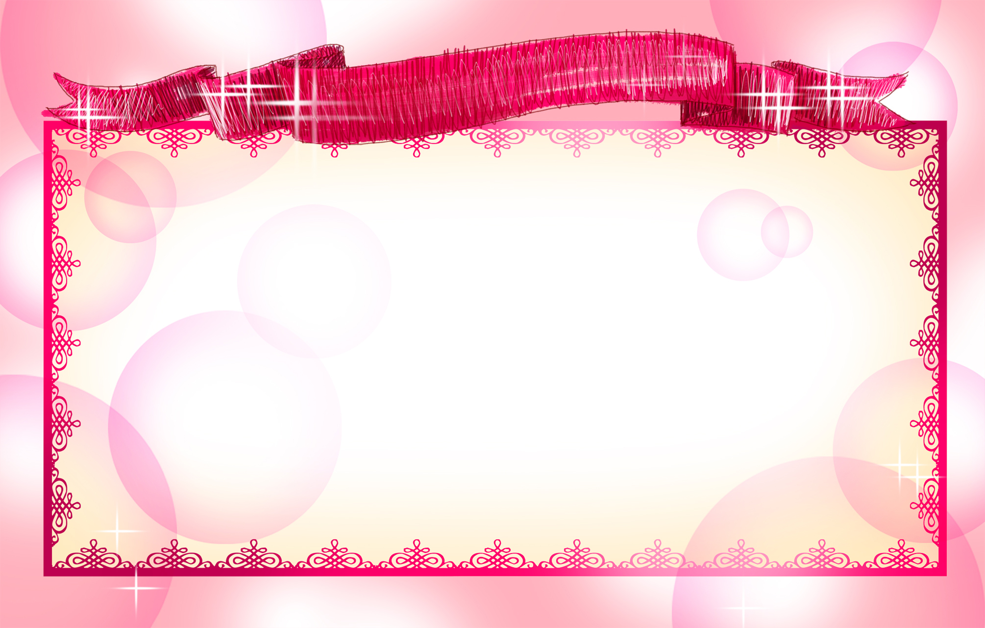 romantic pink border wedding card background material
