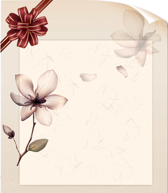 flores de fita de est u00e9tica retro poster material de fundo
