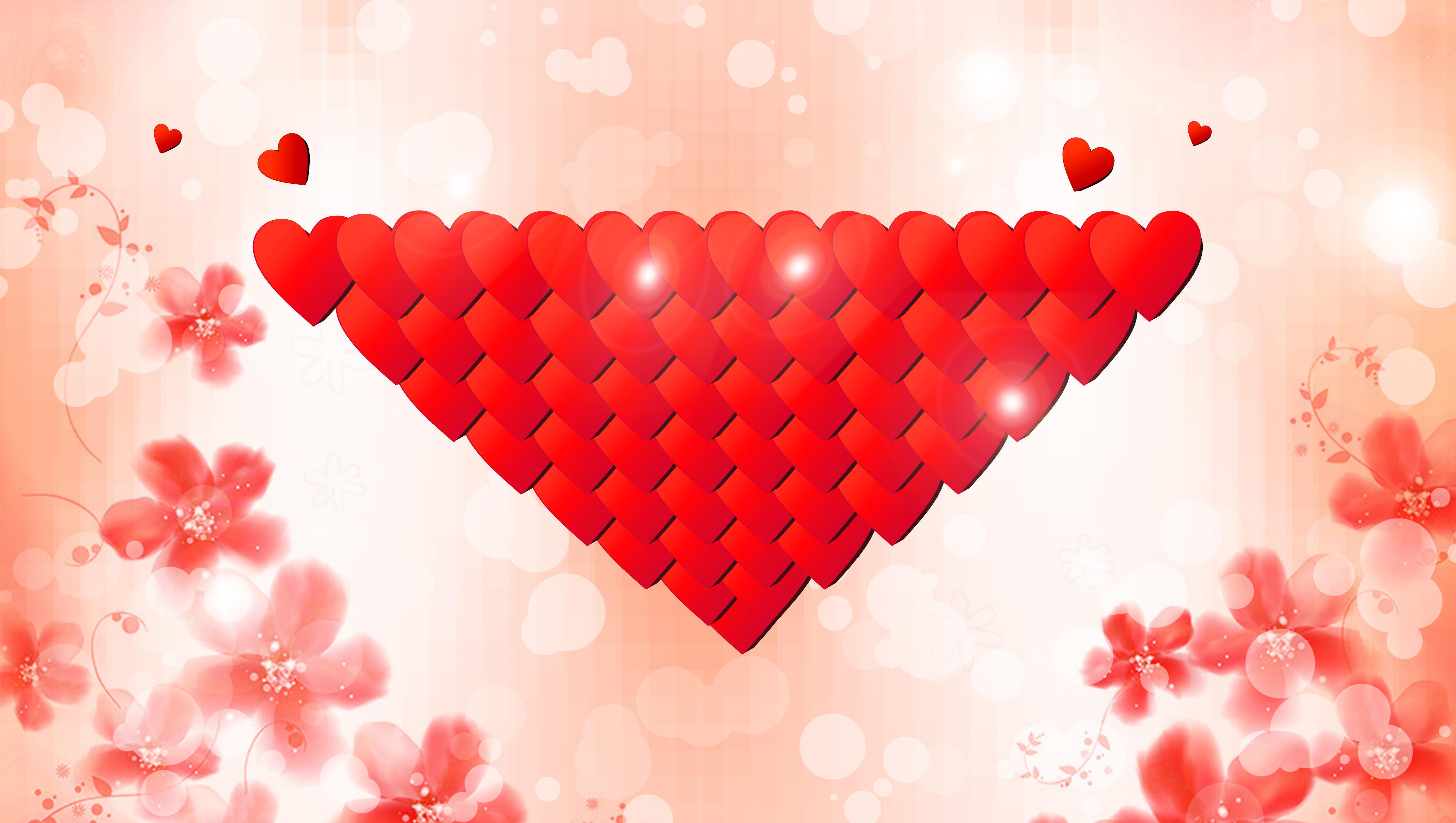Hình trái tim hồng lãng mạn hoạt động quảng cáo bài hát nền cho lễ tình nhân, Ngày Lễ Tình Nhân, Hình Trái Tim, Nền Màu Hồng Mơ Mộng tải về miễn phí ảnh nền