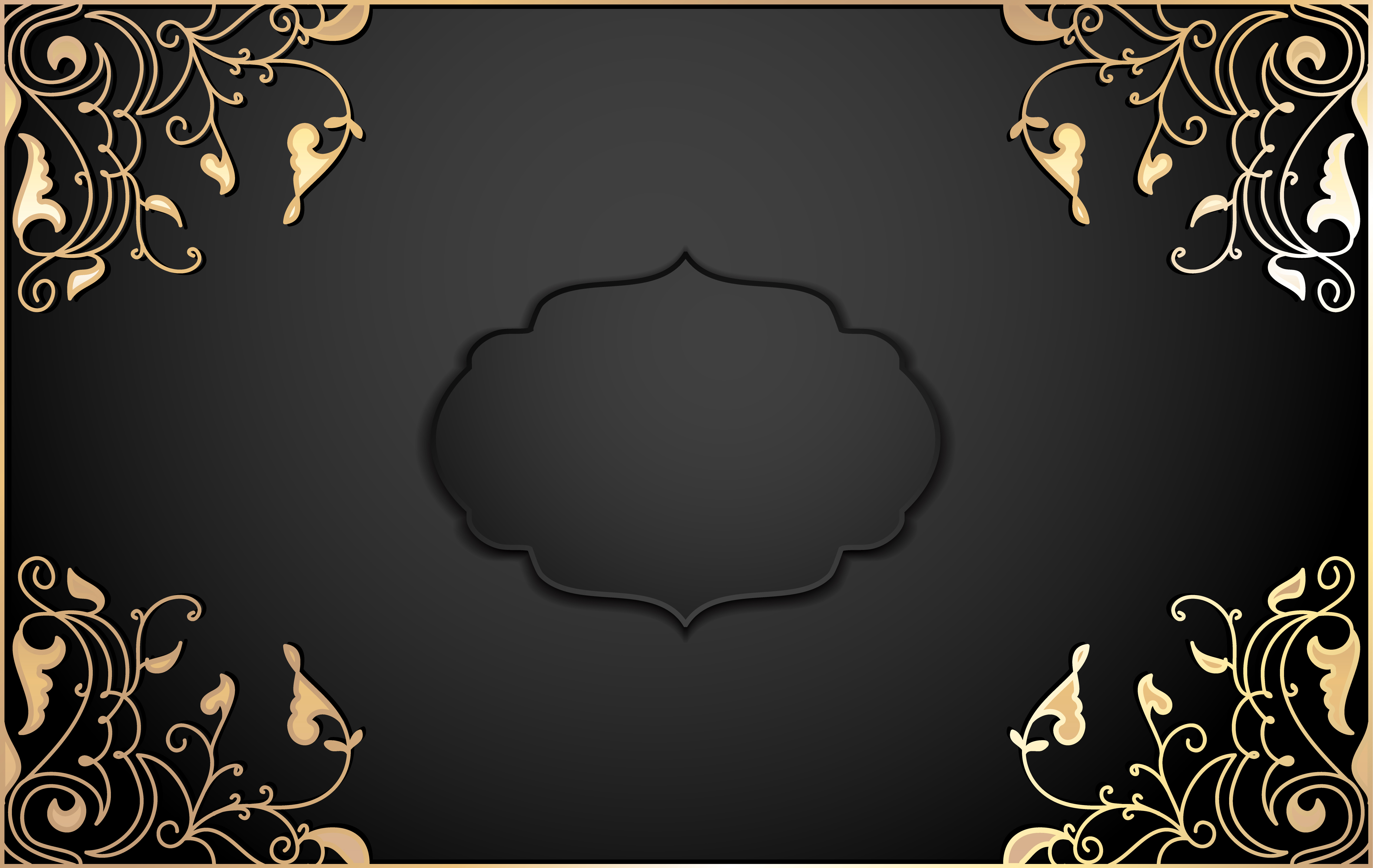 club card gold lace invitation background vip guests