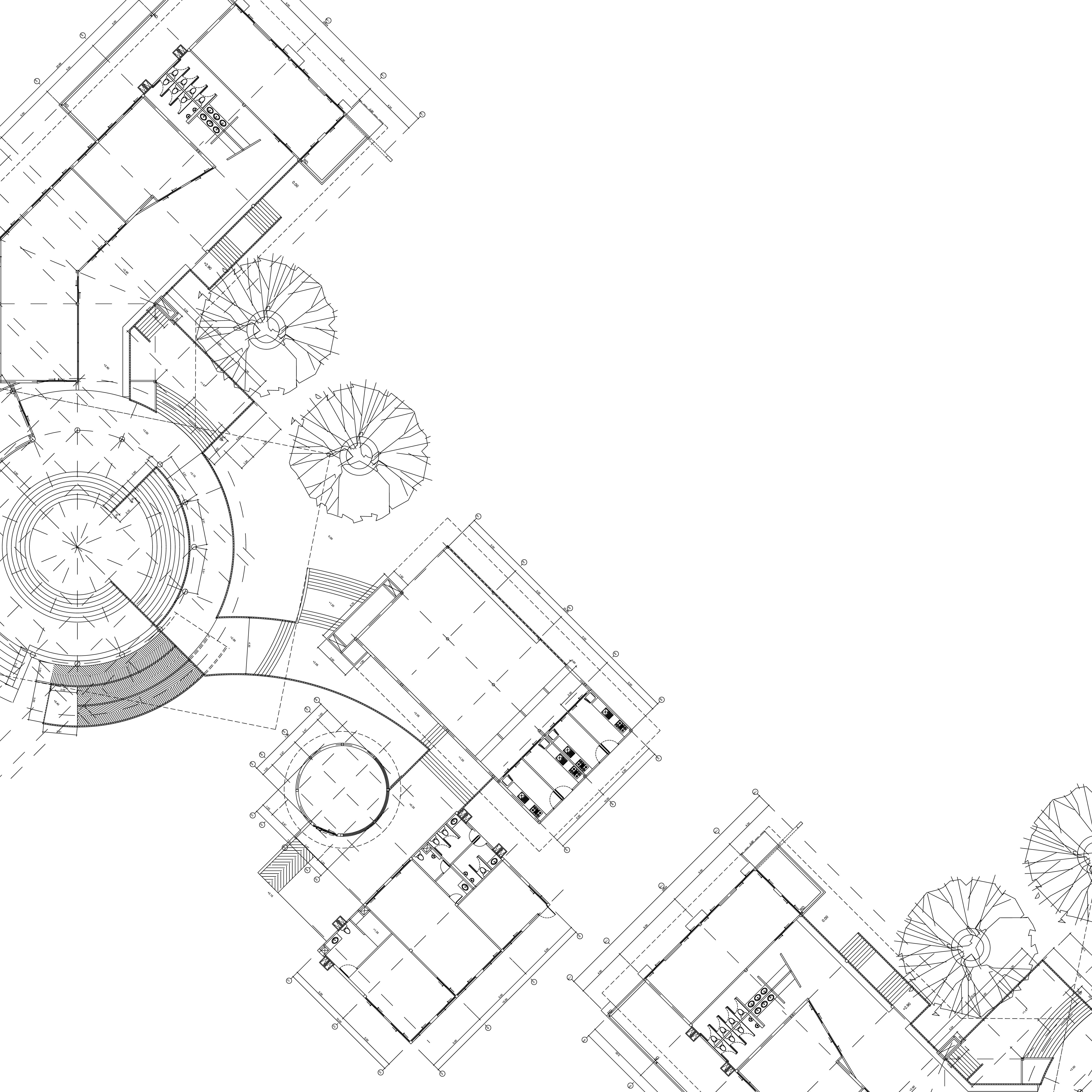 minimalist architectural design white background creative