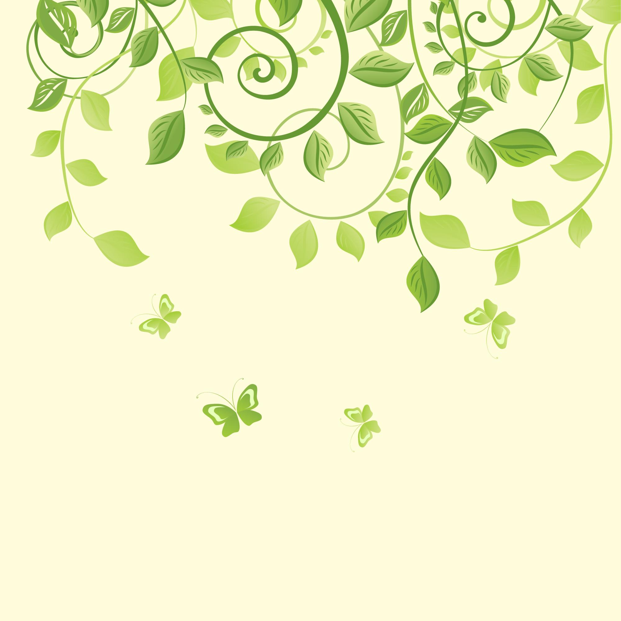 Small Fresh Green Vines Background, Green, Vines, Art