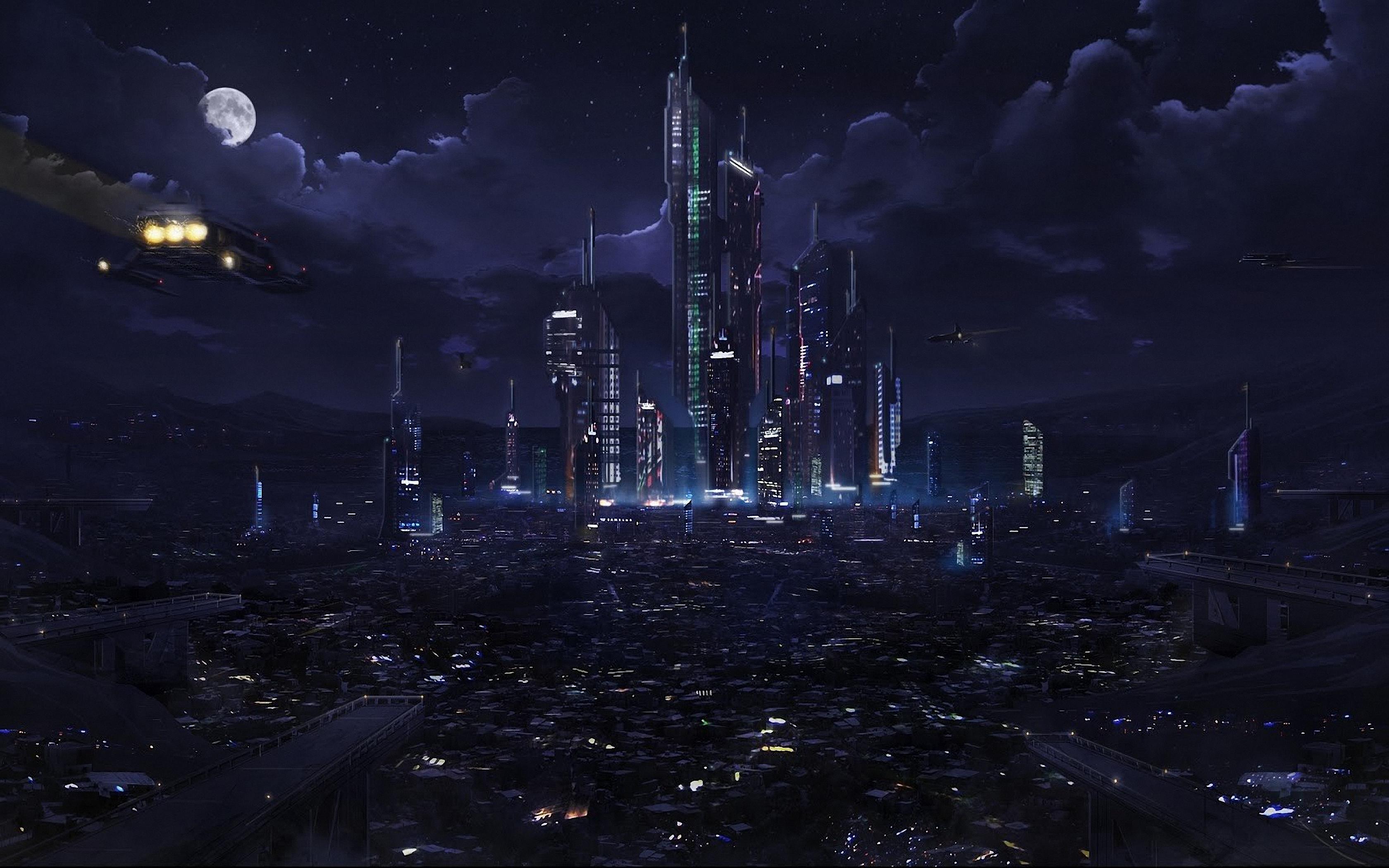 La notte sky stadio star sfondo city luce panorama