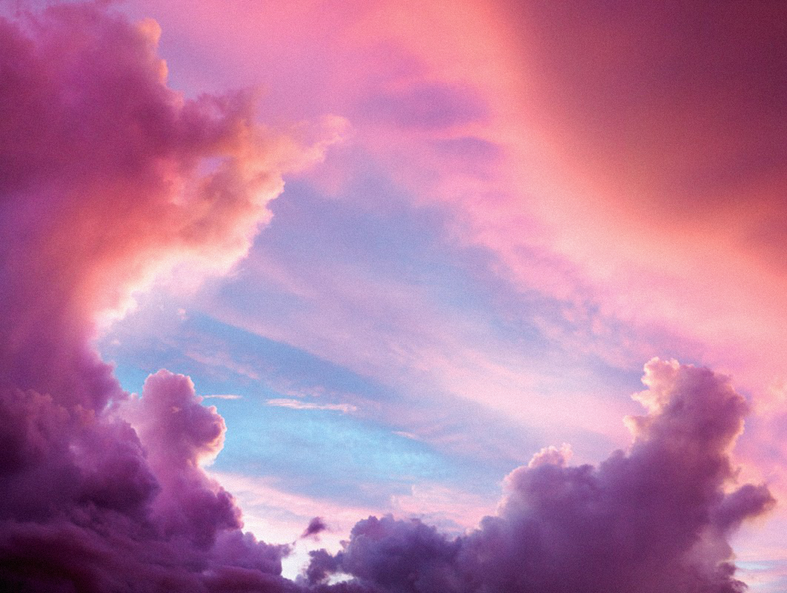 Purple Clouds Pink Clouds Sky Background Material, Hd