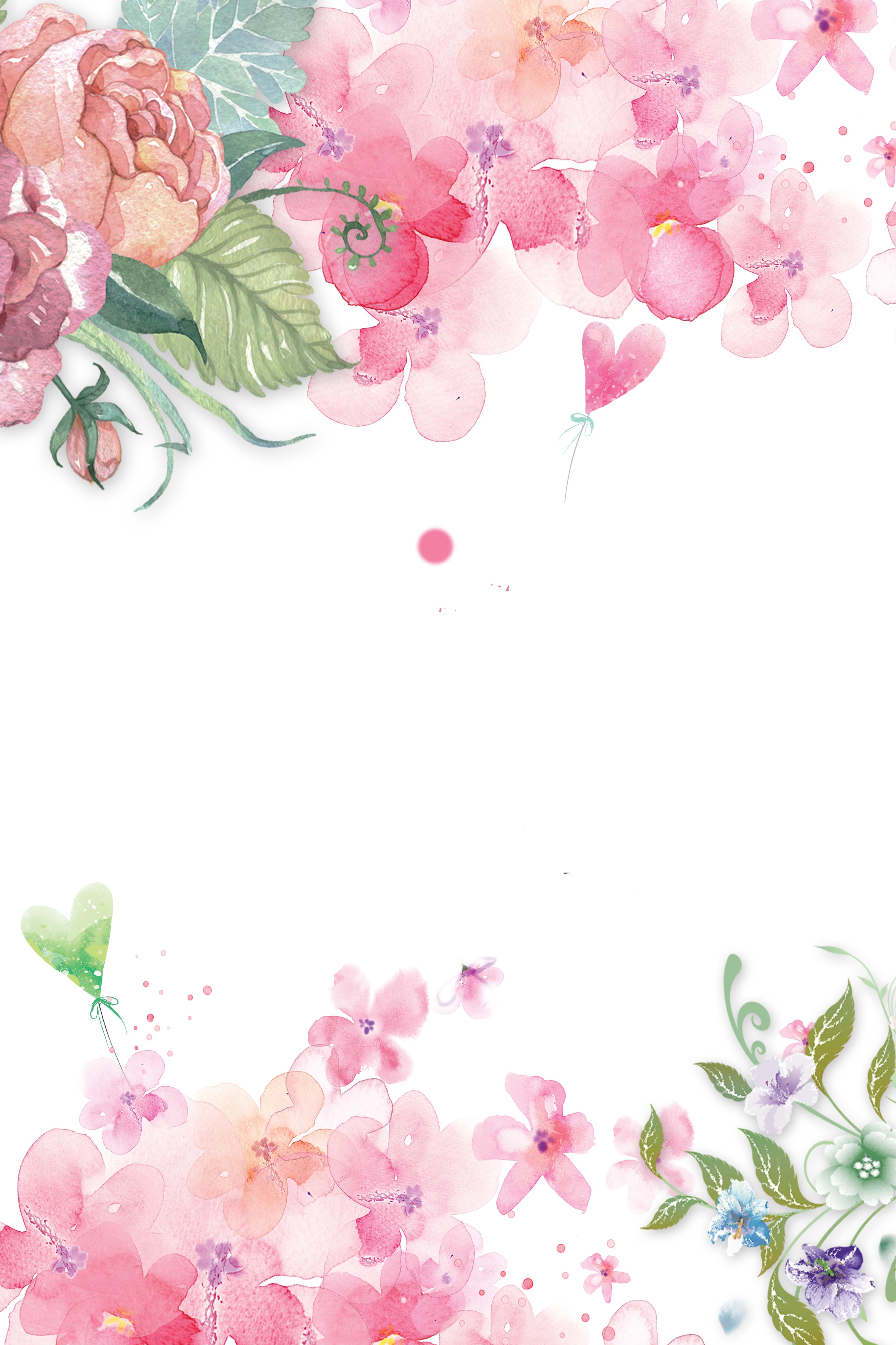 beautiful flowers watercolor poster background  beautiful