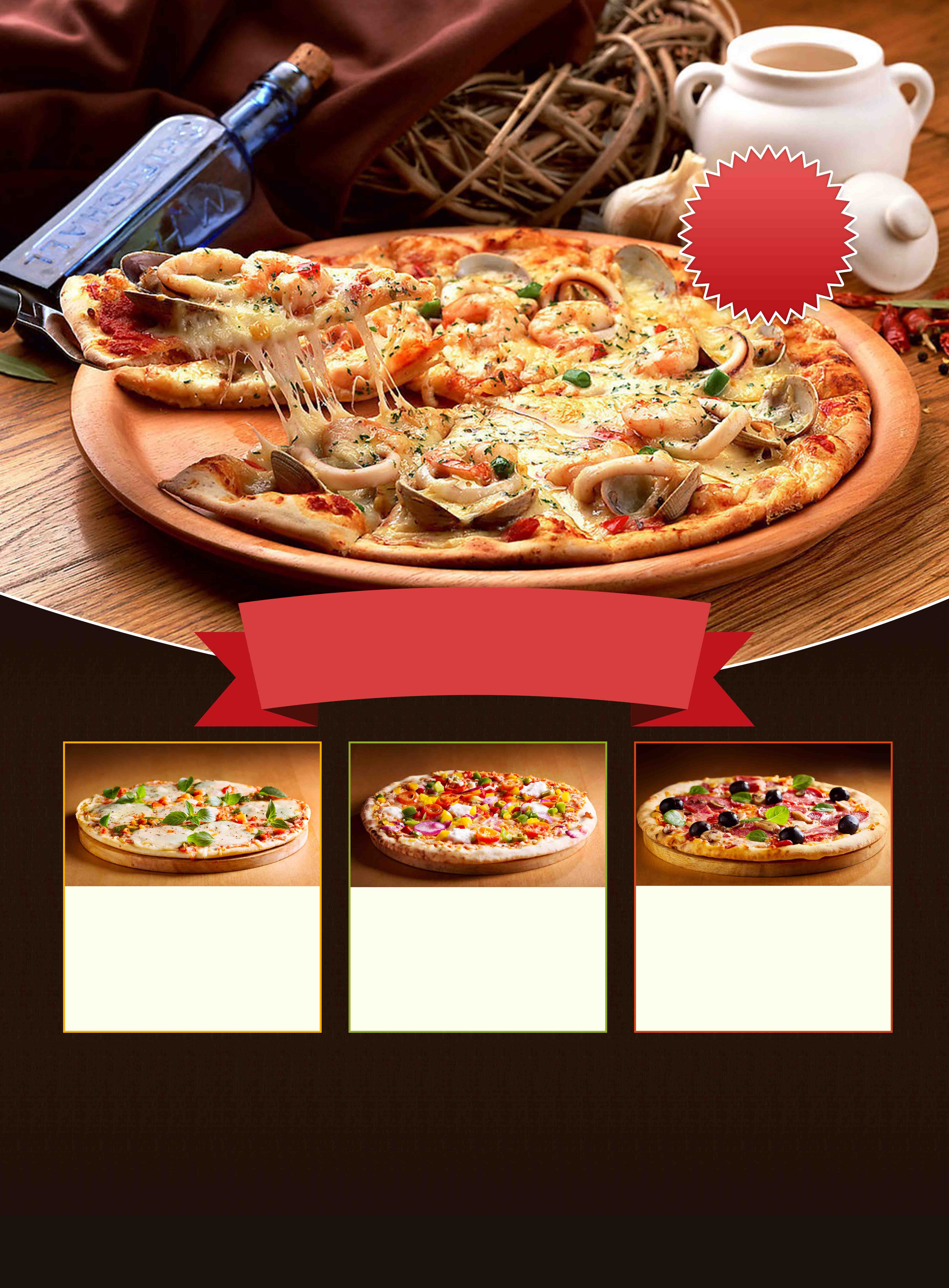 delicious italian pizza advertising poster background