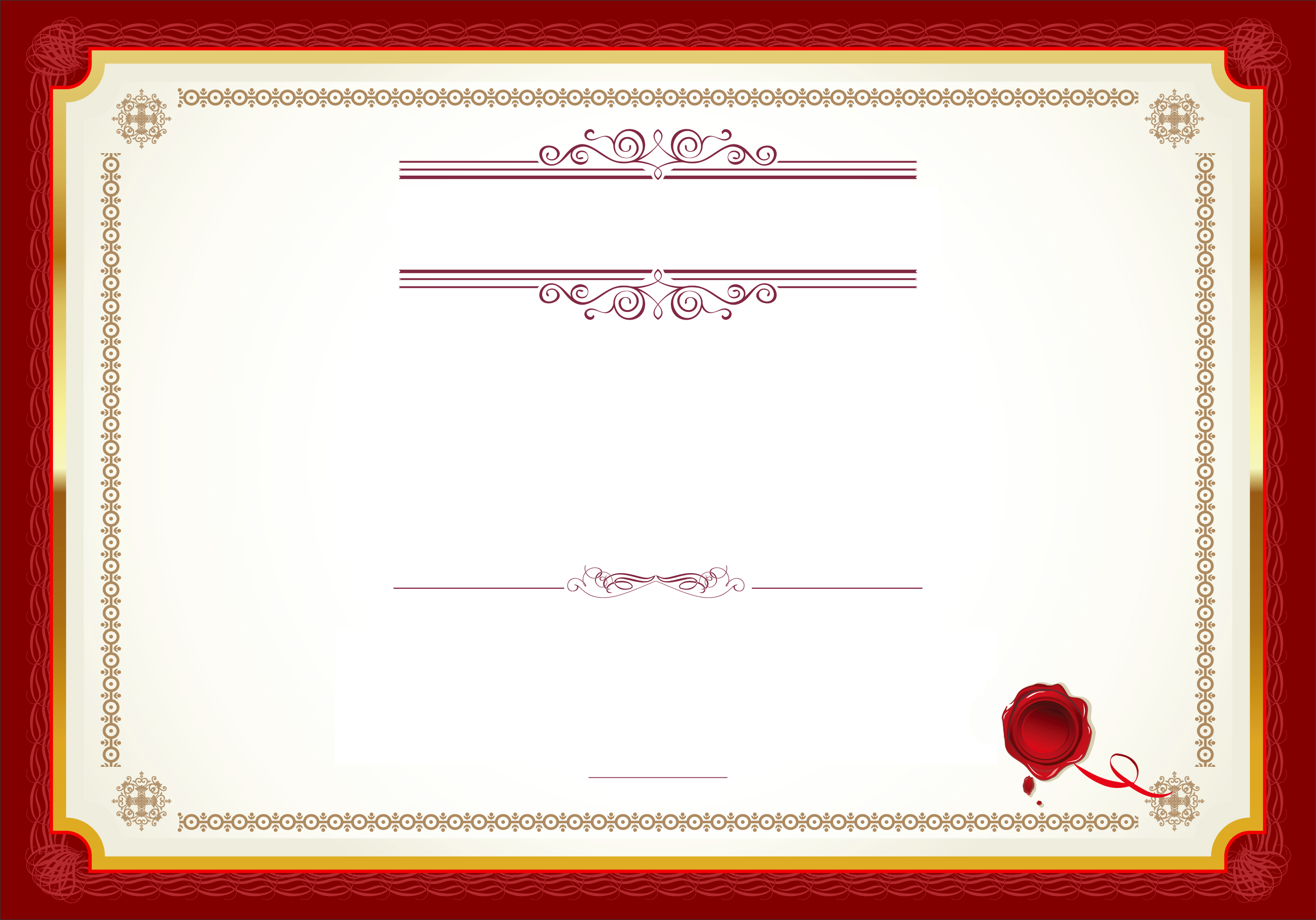 Red Border Certificate Background Material, Red, Frame ...