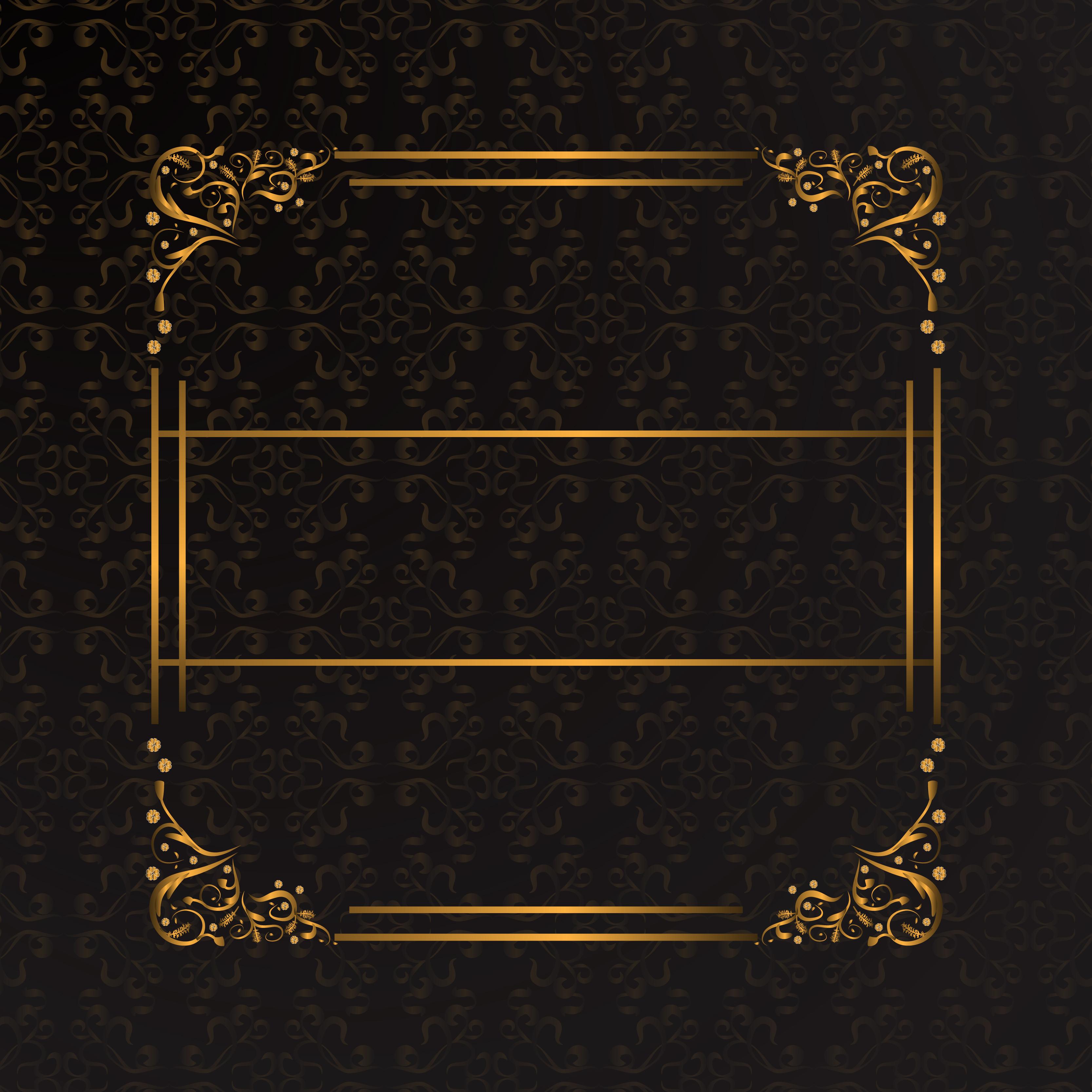 or de motif de bordure de fond en mati u00e8re de style  u00e9l u00e9gant