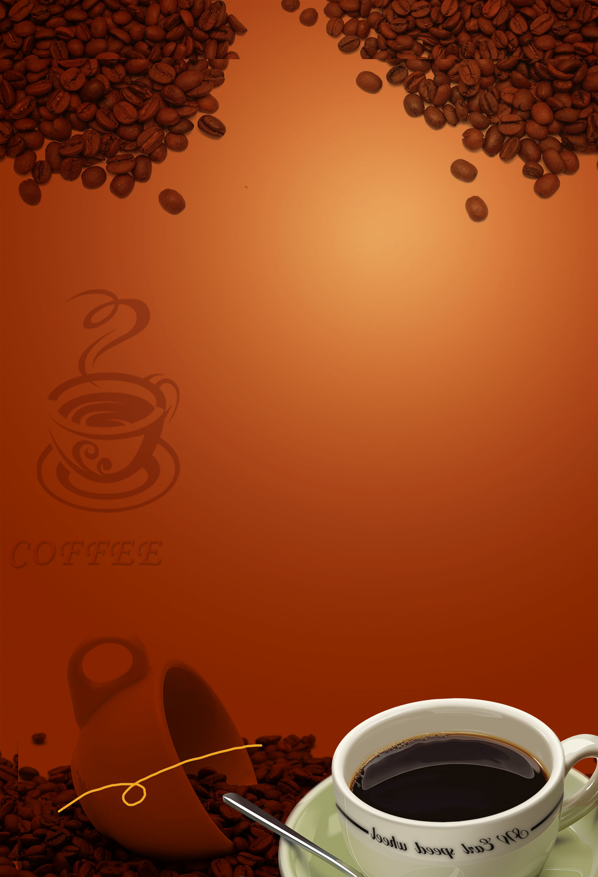 coffee menu retro background  coffee  beans  mug
