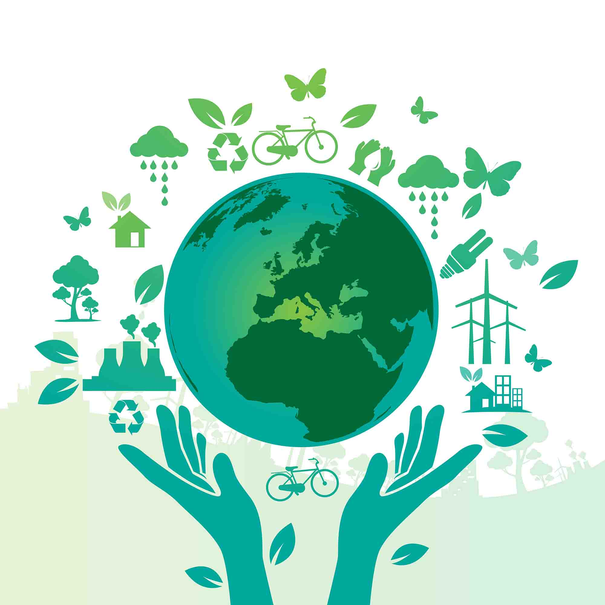 Public Environmental Green Hands Saving The World To Save ...