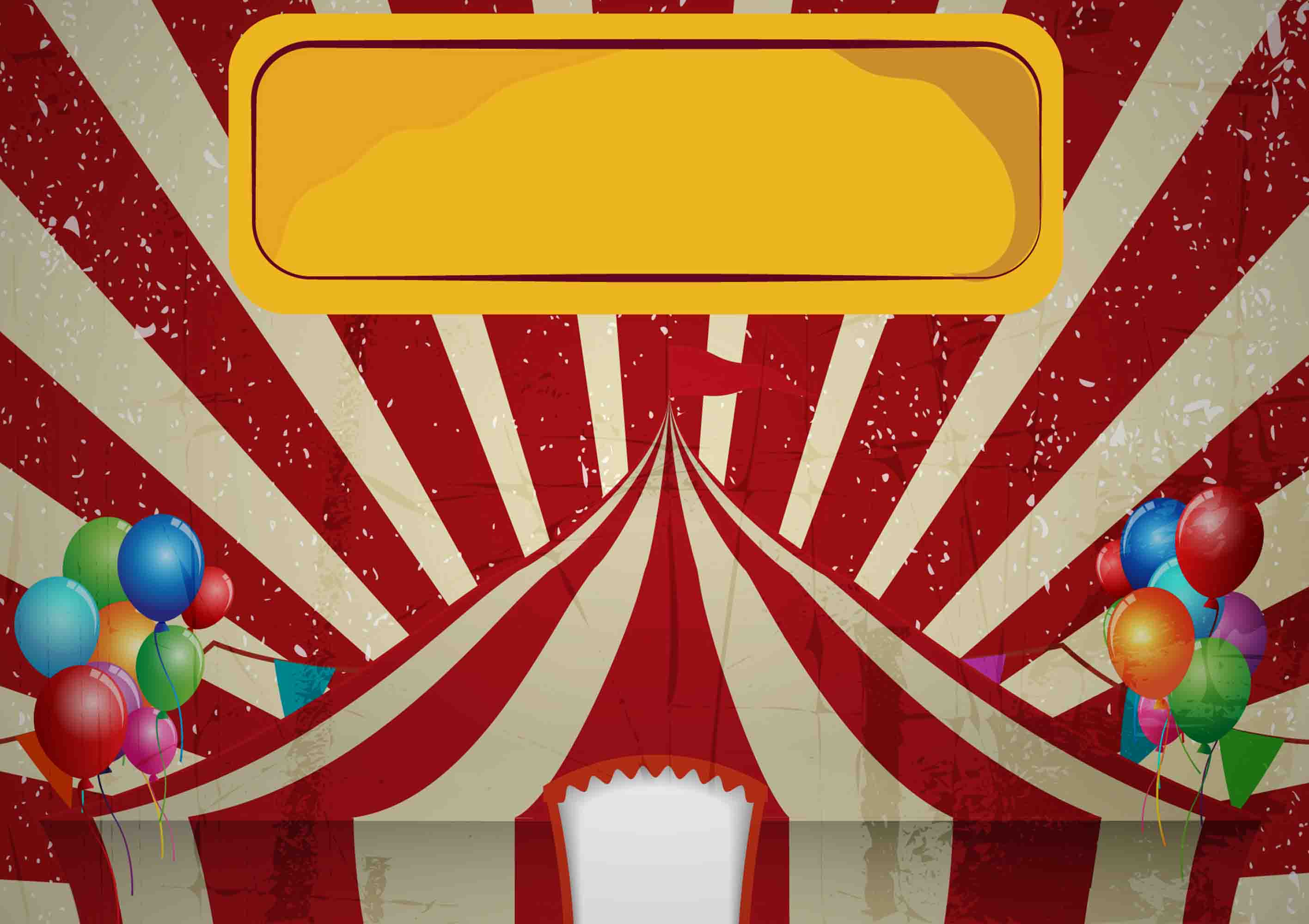 children circus tent vector greeting birthday celebration poster background  vector  birthday