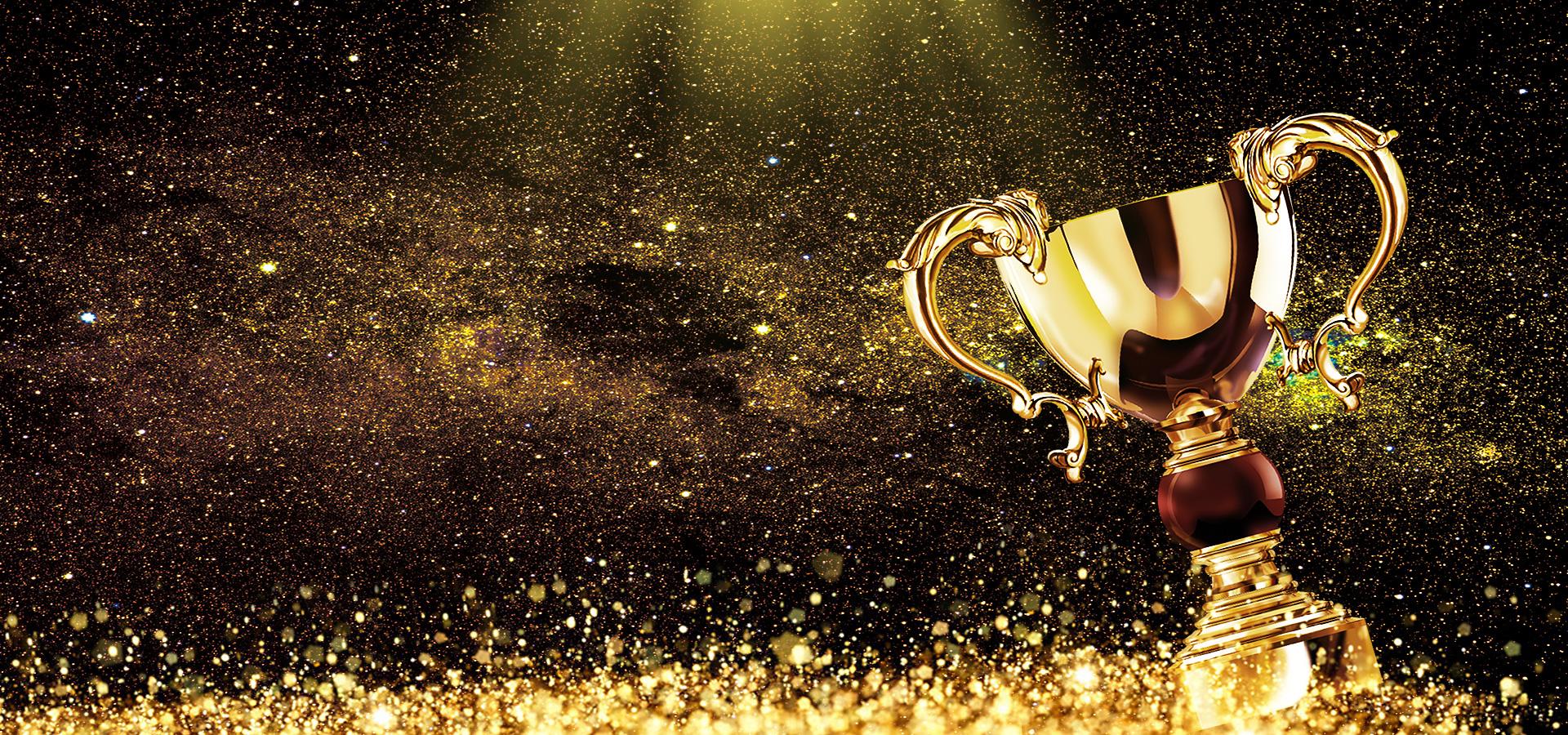 creative luxurious golden trophy award celebration